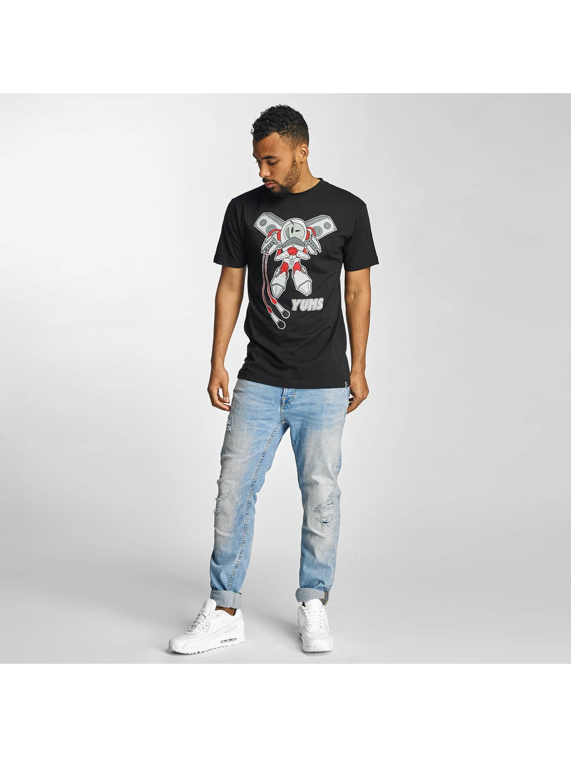 Yums T-skjorter Rocket Boy svart