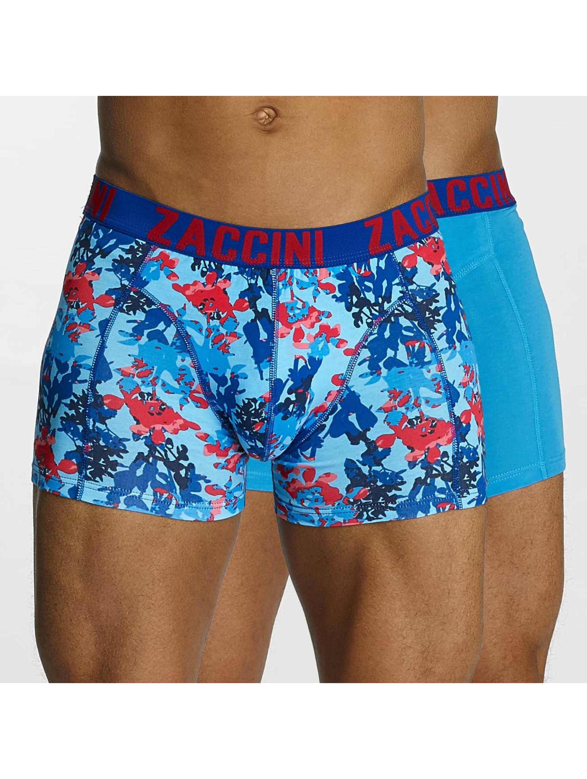 Zaccini Boxerky Painted Spring modrý