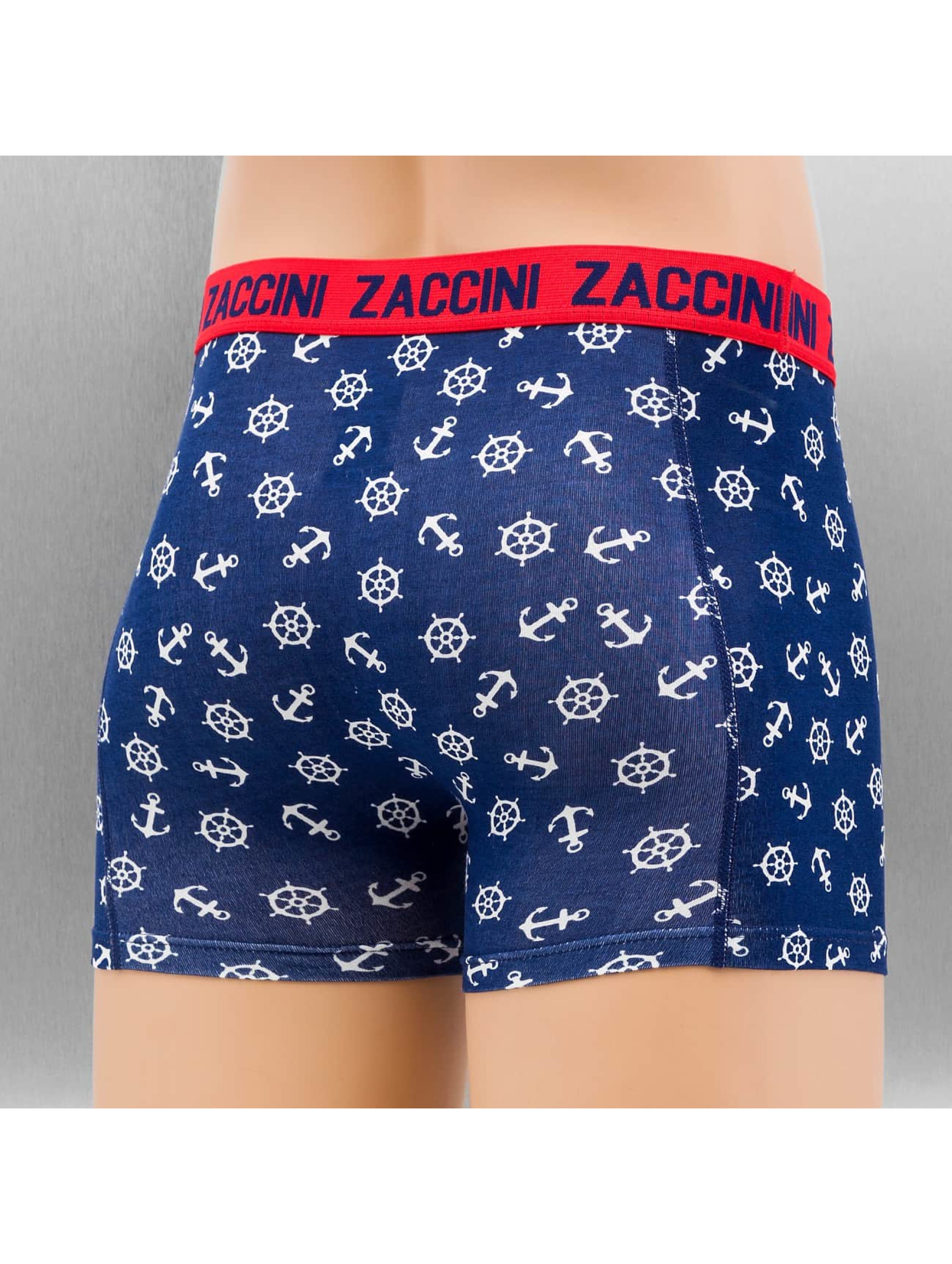 Zaccini Boxershorts Nautical 2-Pack blau