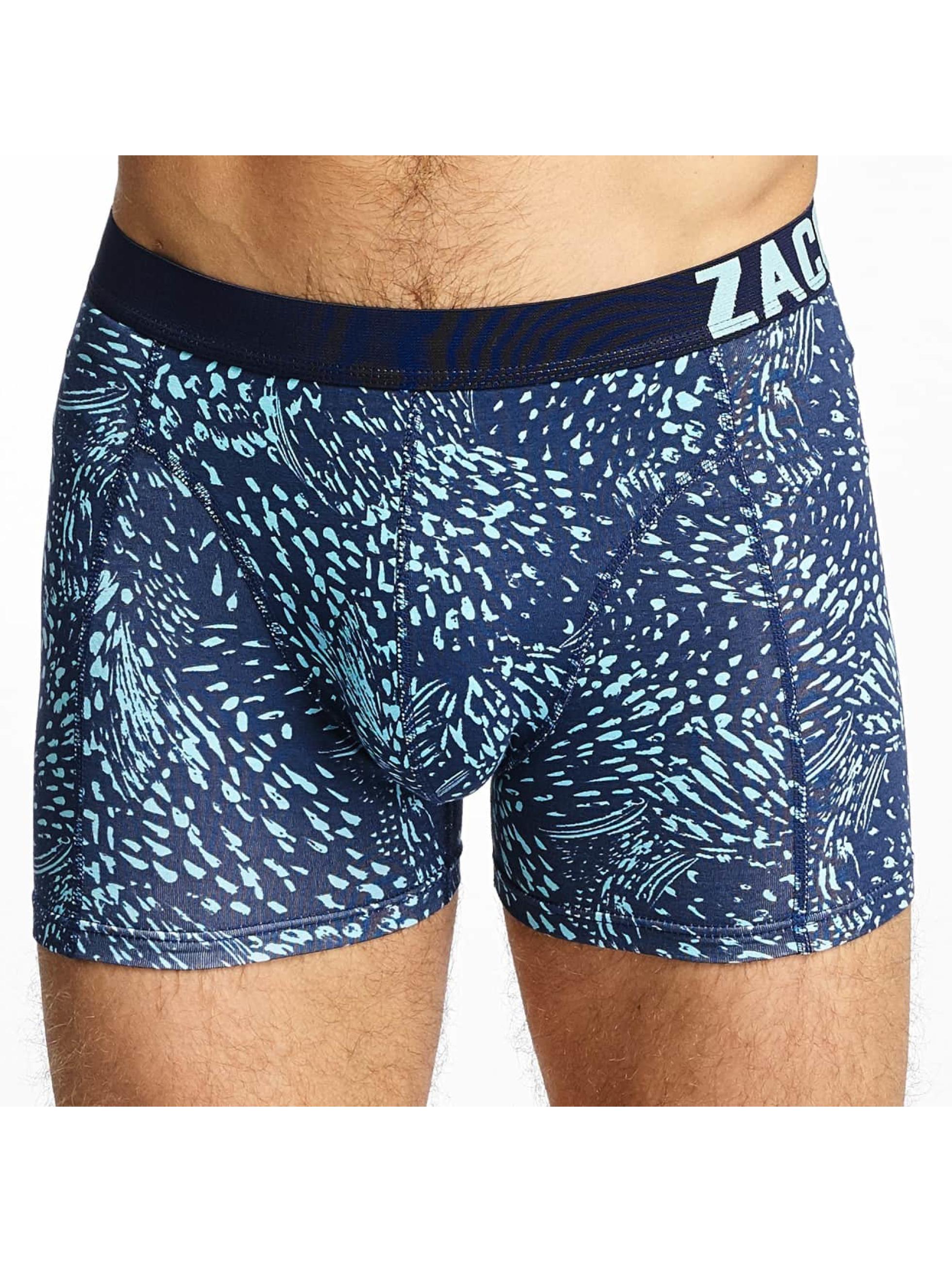 Zaccini Boxershorts Summer Spray 2-Pack blau