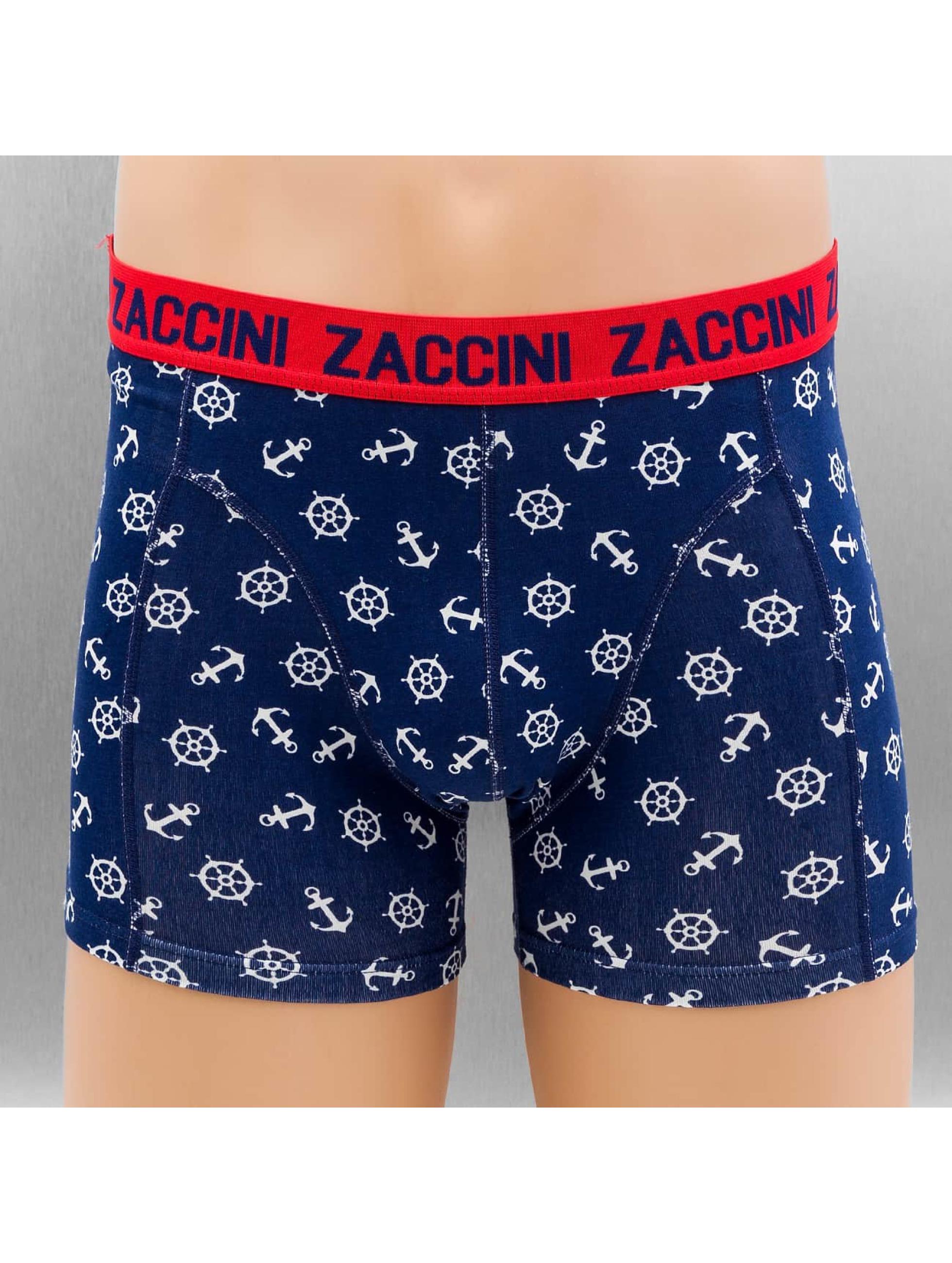 Zaccini boxershorts Nautical 2-Pack blauw