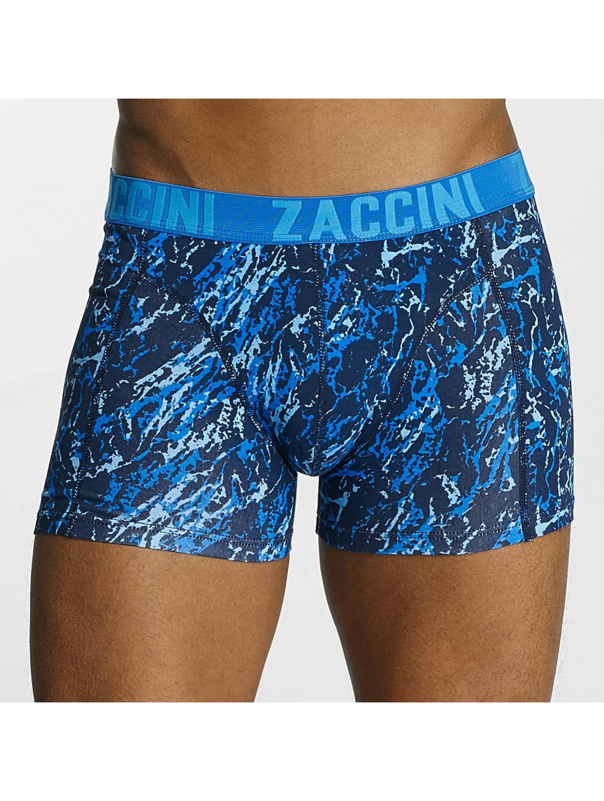 Zaccini boxershorts Mineral blauw