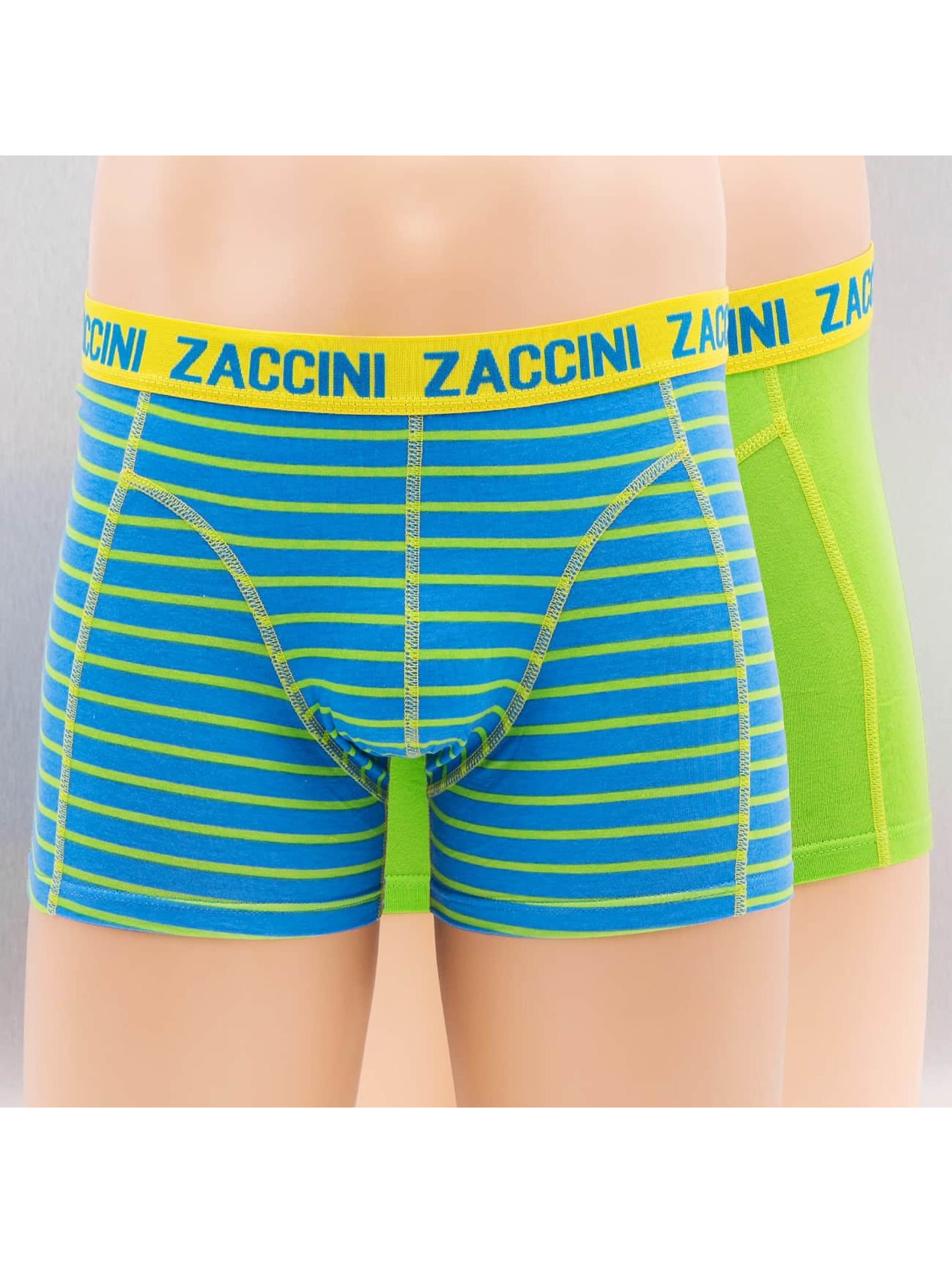 Zaccini boxershorts Caribean 2-Pack groen