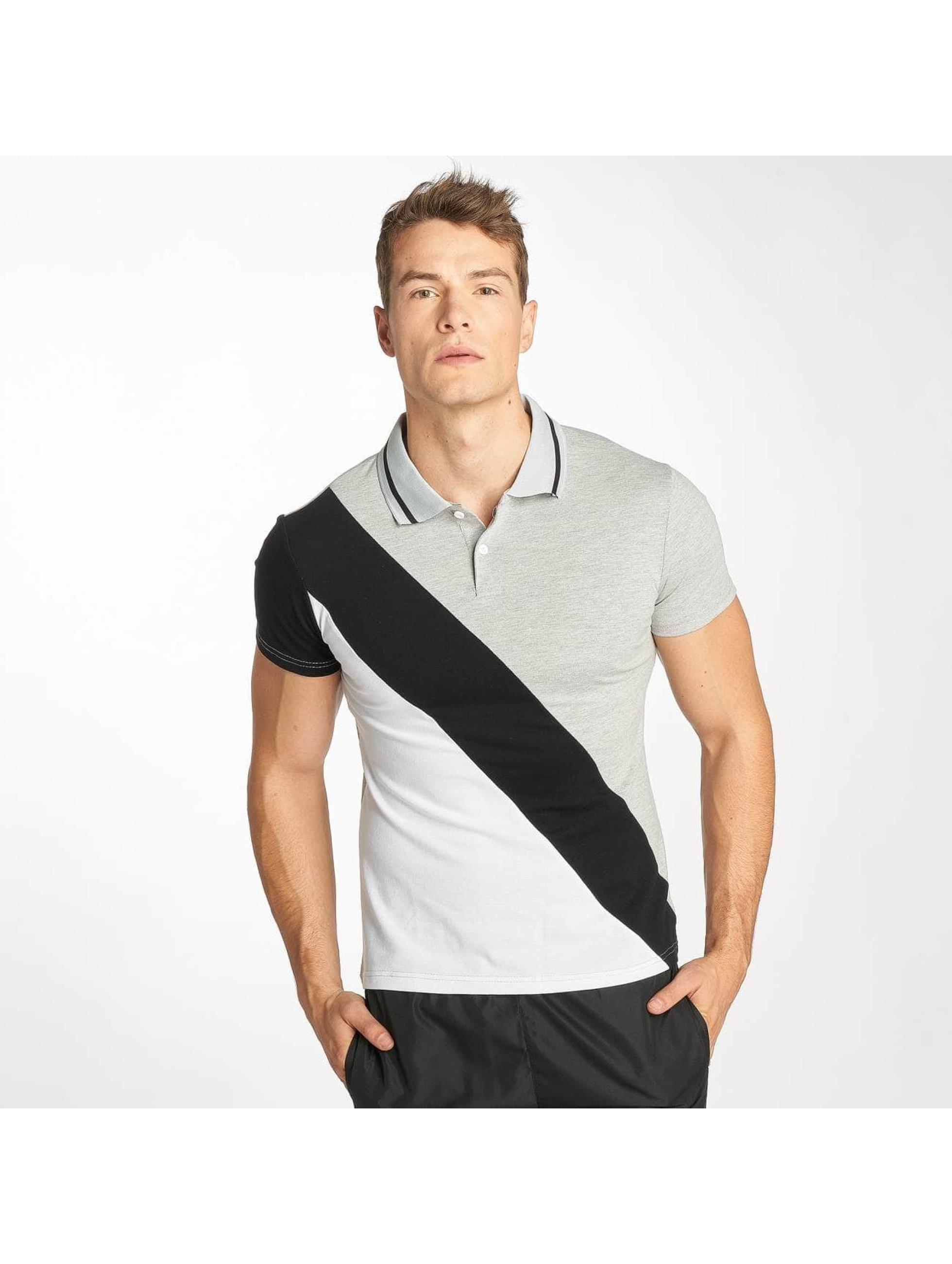 Zayne Paris Poloshirt Stripe grey
