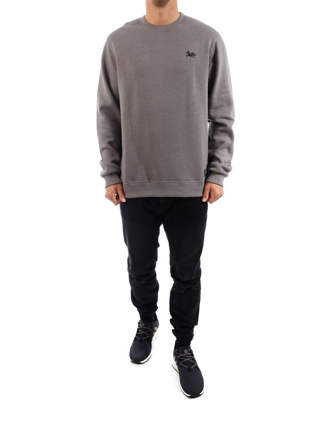 1UP |   gris Homme Sweat & Pull  555499| Homme Hauts