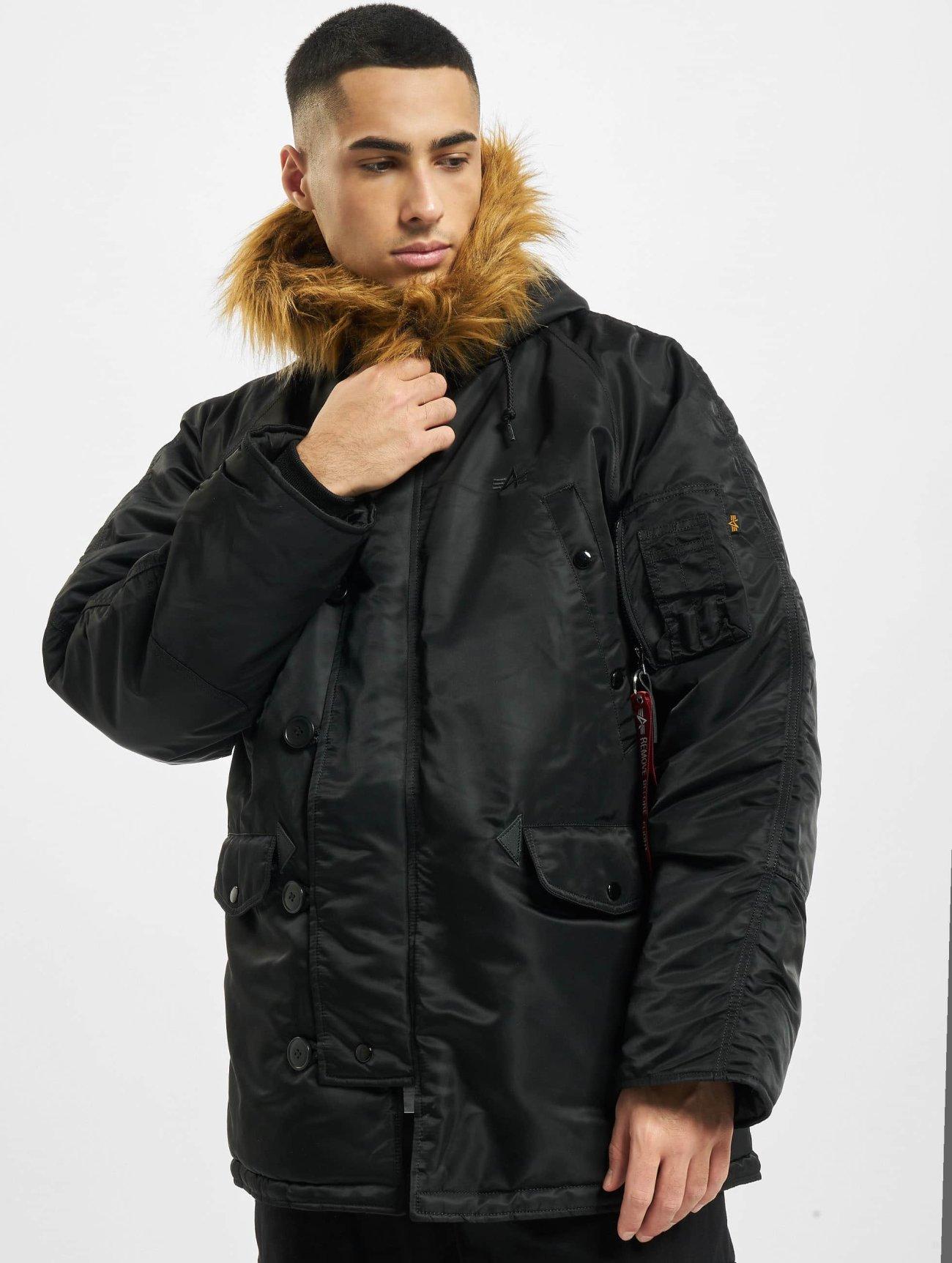 Alpha Industries | N3B   noir Homme Manteau hiver  41560| Homme Manteaux & Vestes