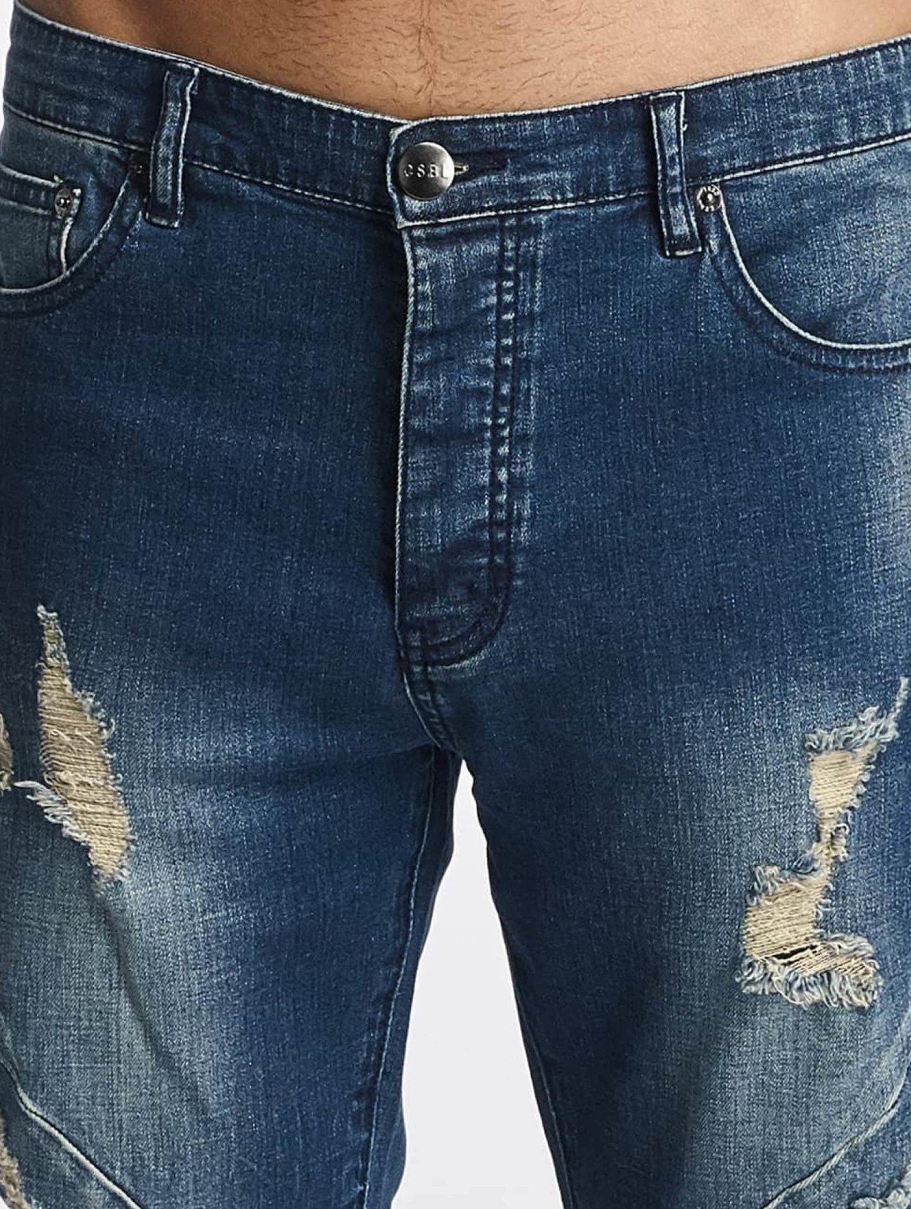 Cayler & Sons  ALLDD Paneled Denim  bleu Homme Jean slim  374685 Homme Jeans