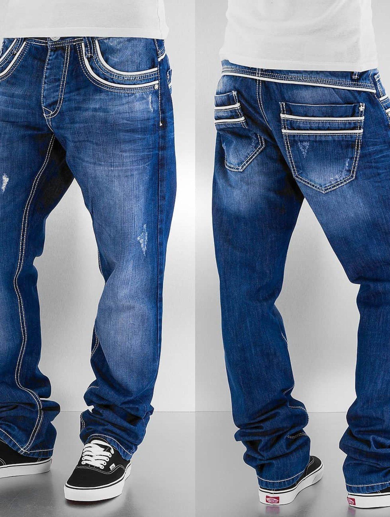 Cipo & Baxx  Simba   bleu Homme Jean coupe droite  155961 Homme Jeans