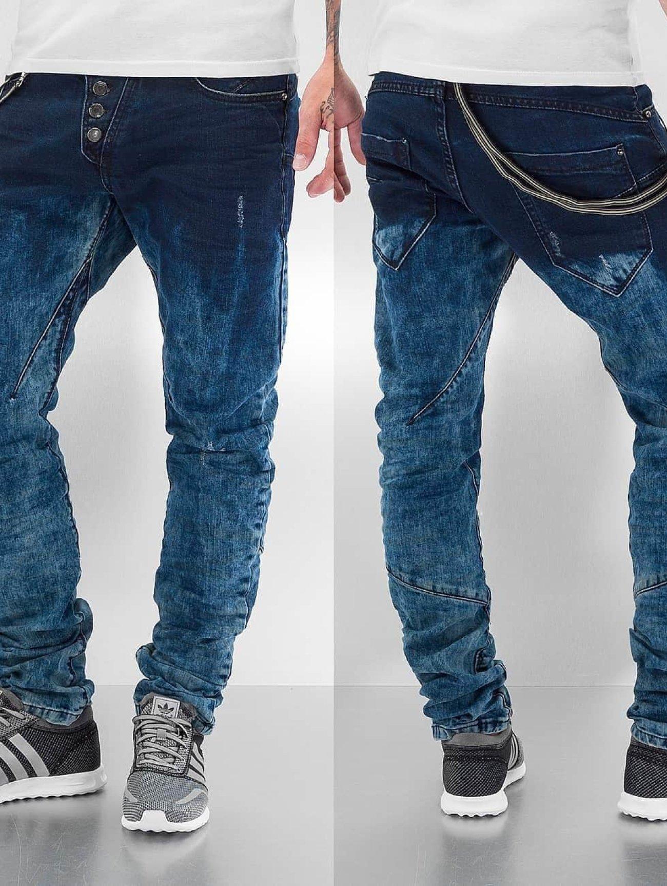 Cipo & Baxx  Acid  bleu Homme Jean coupe droite  228219 Homme Jeans