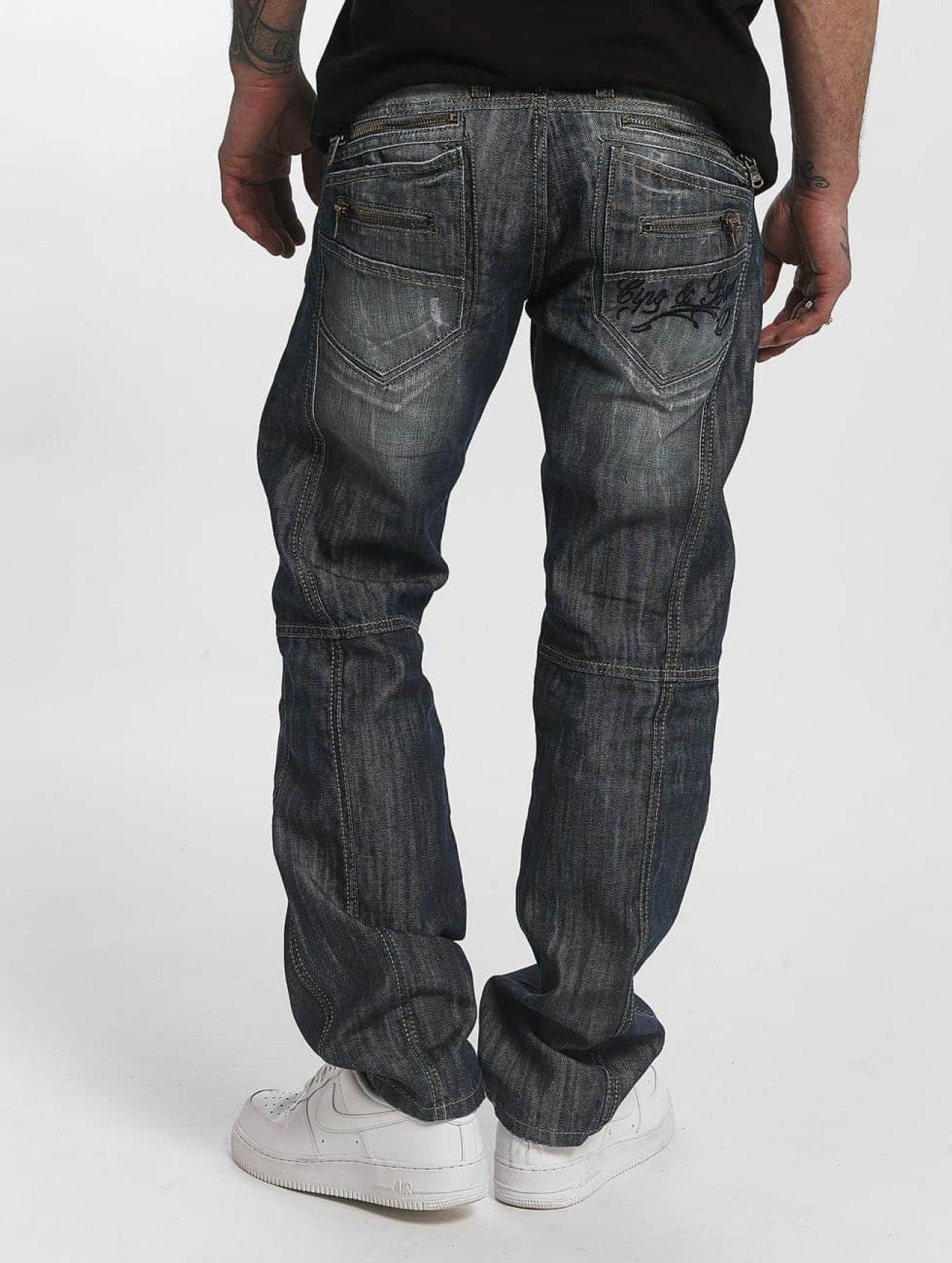 Cipo & Baxx  Leon Classic Fit   bleu Homme Jean coupe droite  76005 Homme Jeans