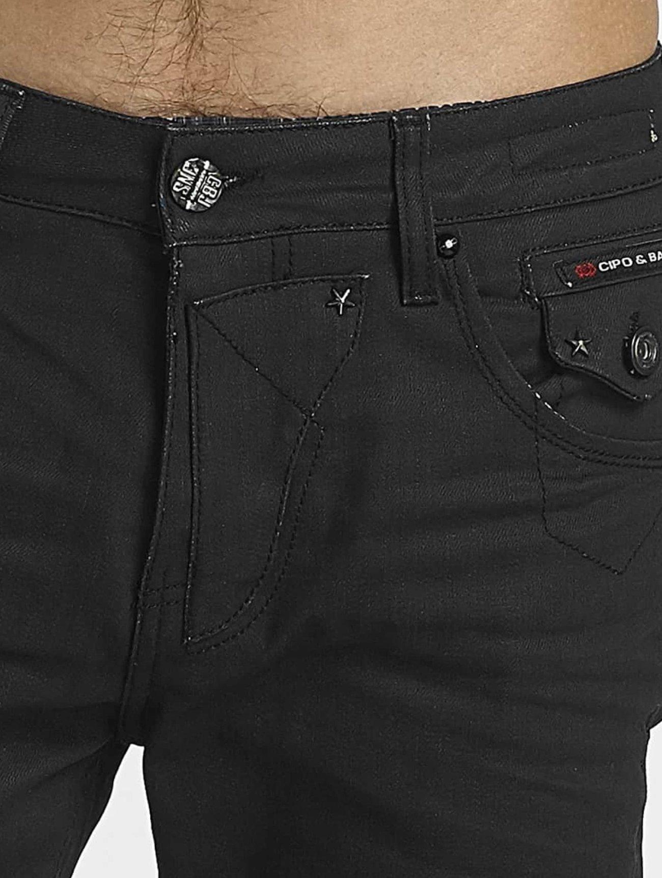 Cipo & Baxx  Pekka  noir Homme Jean coupe droite  459043 Homme Jeans