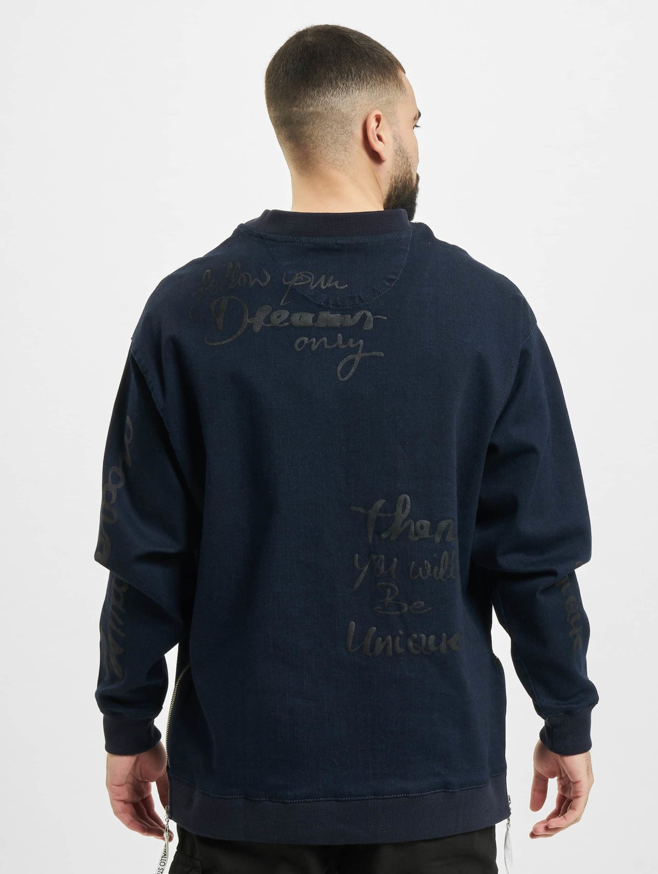 De Ferro   Denim  bleu Homme Sweat & Pull  391191  Homme Hauts