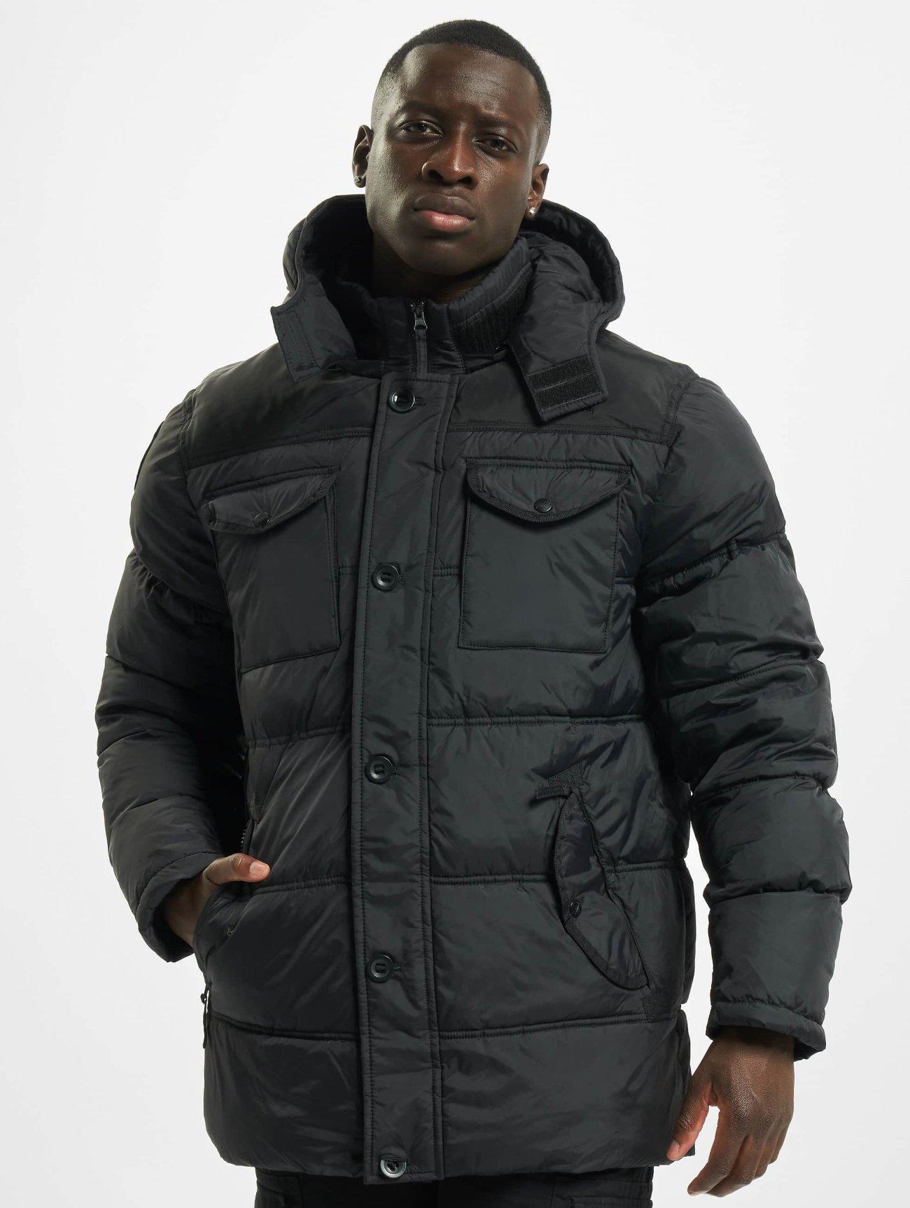 Lonsdale London |  Darren    noir Homme Manteau hiver  89859| Homme Manteaux & Vestes