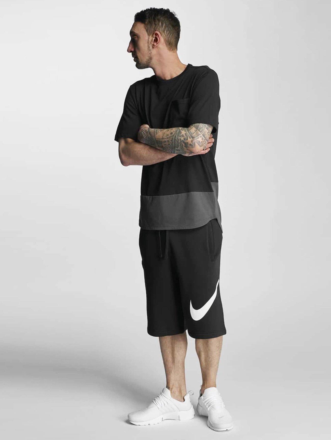 Nike  FLC EXP Club  noir Homme Short  296457 Homme Pantalons & Shorts