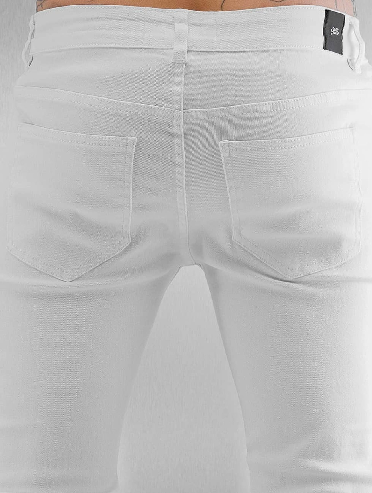 Sixth June  Opened On Knee  blanc Homme Jean skinny  301554 Homme Jeans