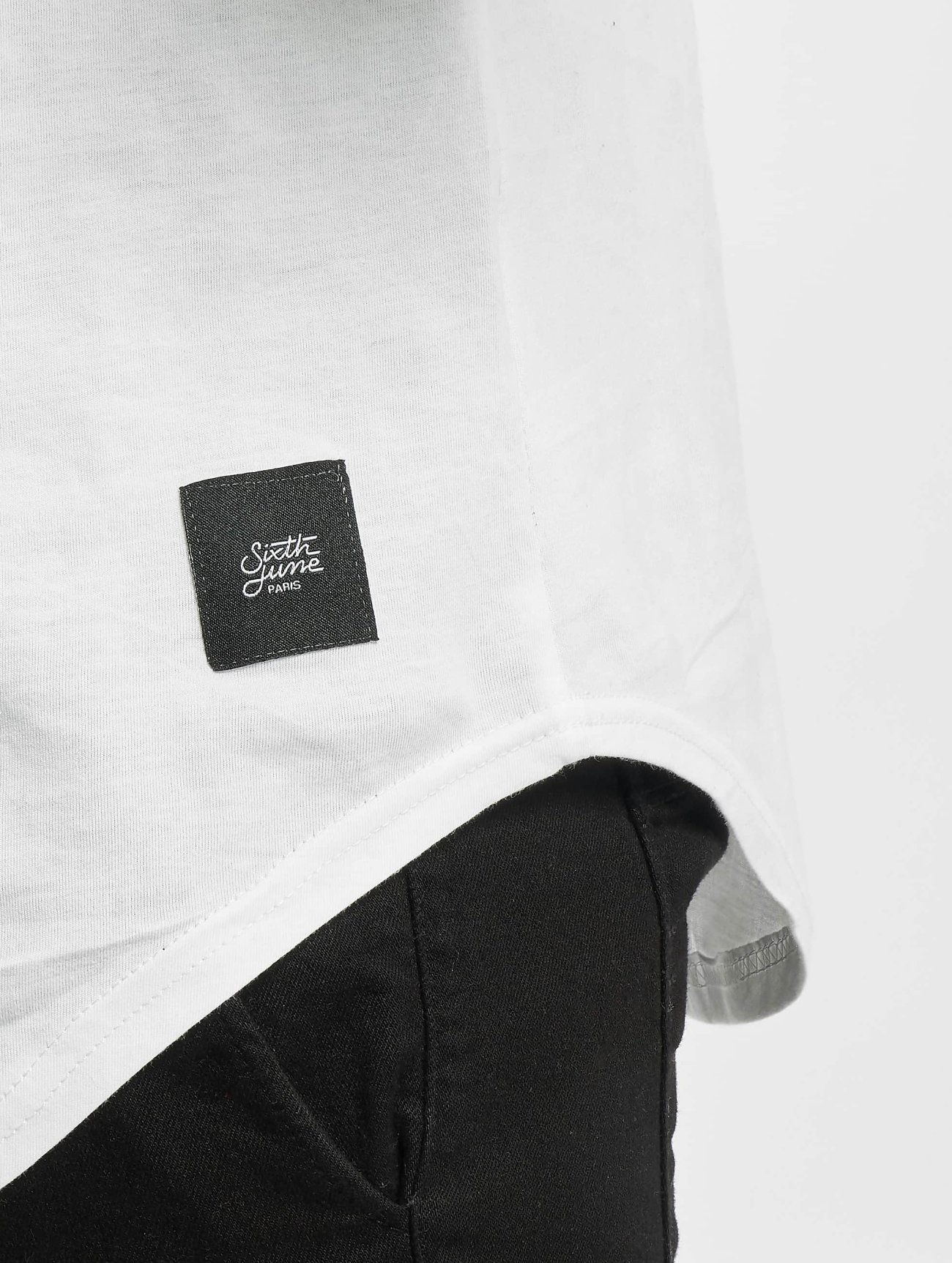 Sixth June | Rounded Bottom blanc Homme T-shirt long oversize 307569| Homme Hauts