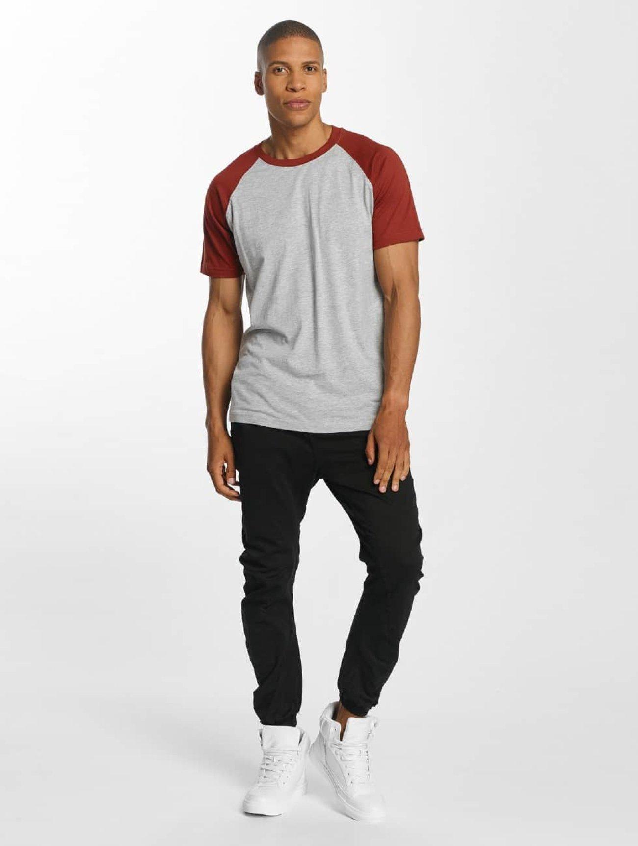 Urban Classics | Raglan Contrast  gris Homme T-Shirt  401243| Homme Hauts