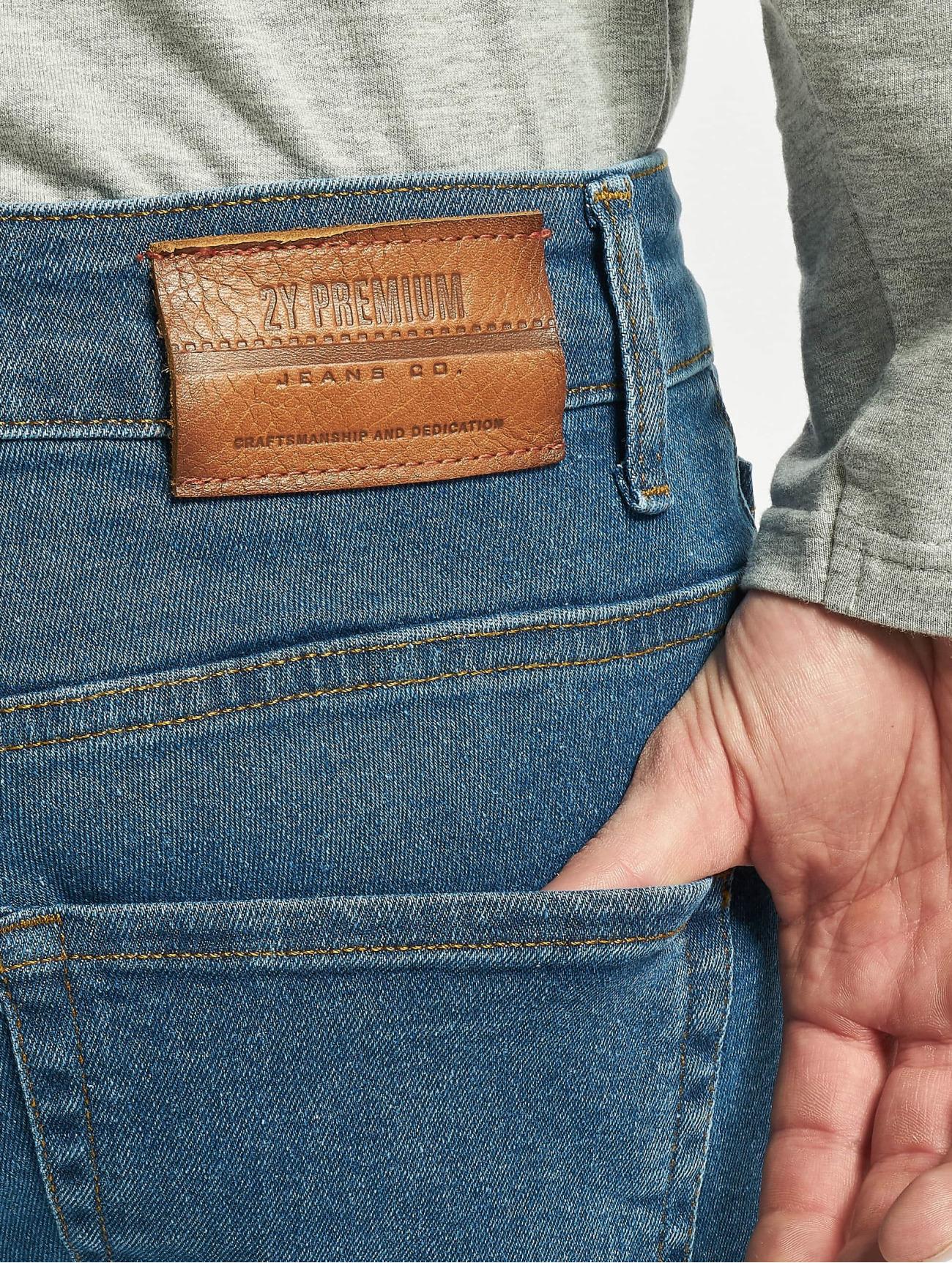 2Y Jeans / Slim Fit Jeans Malik  i blå 746639 Män Jeans