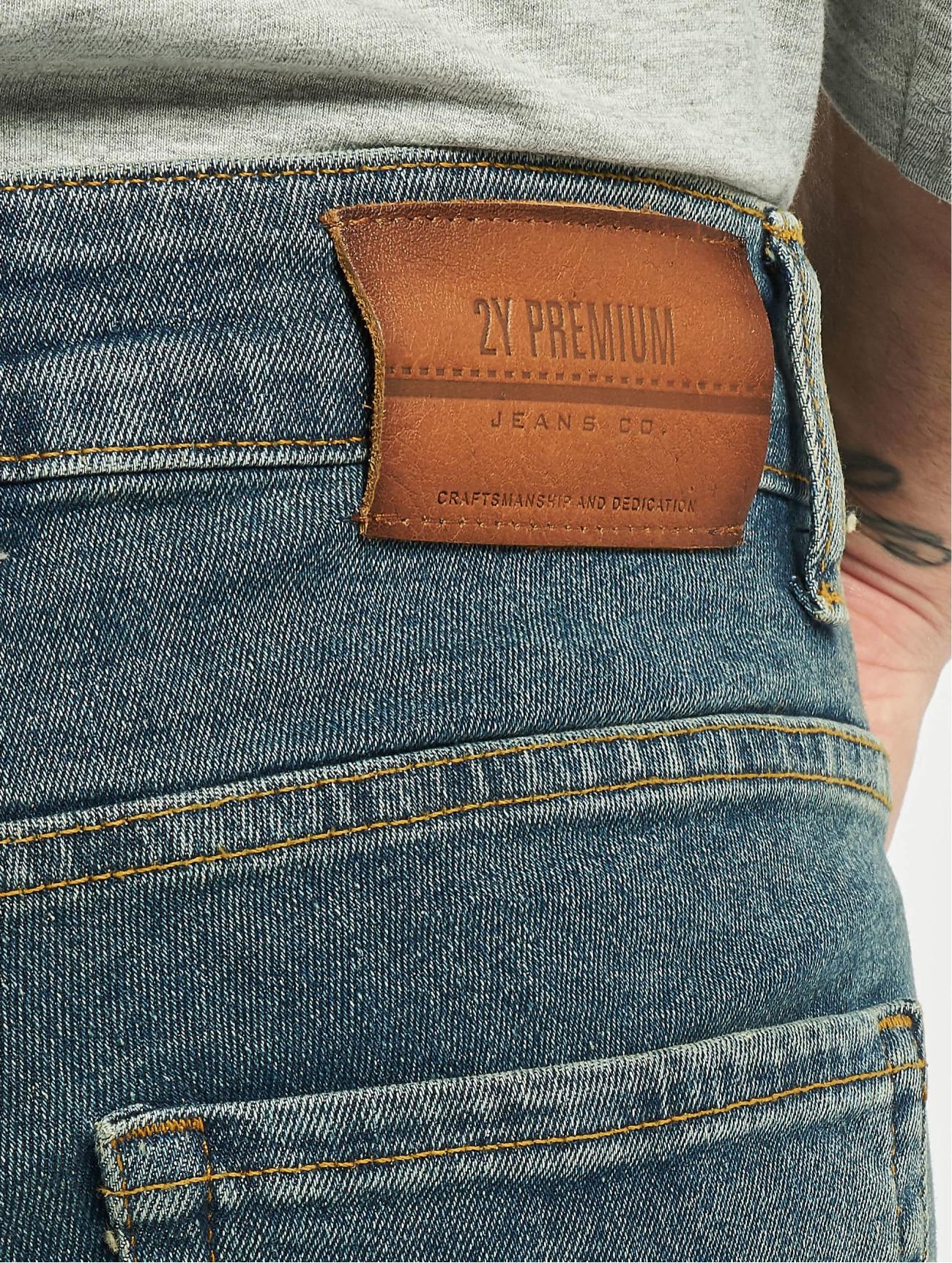 2Y Jeans / Slim Fit Jeans Neven  i blå 746641 Män Jeans