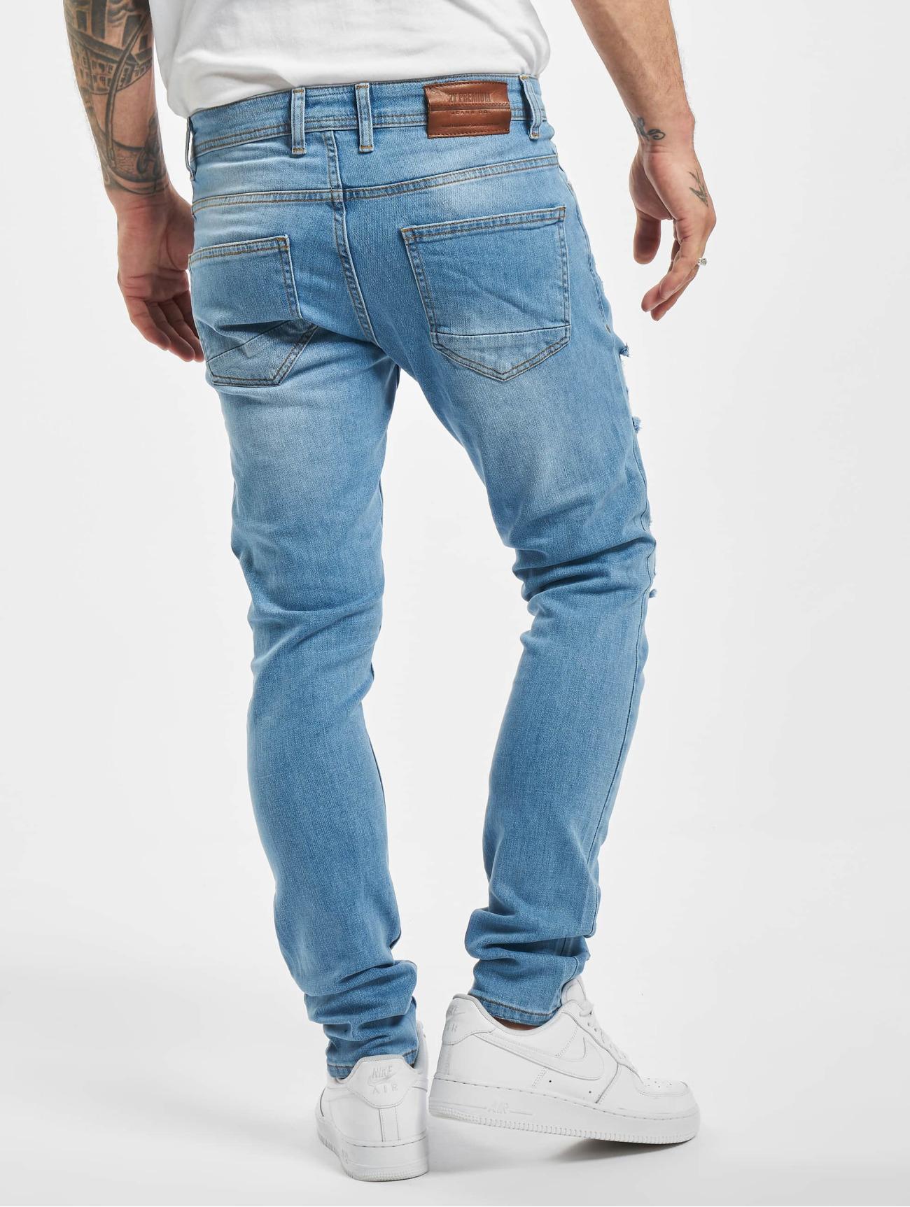 2Y Jeans / Slim Fit Jeans Claudio i blå 765231 Män Jeans