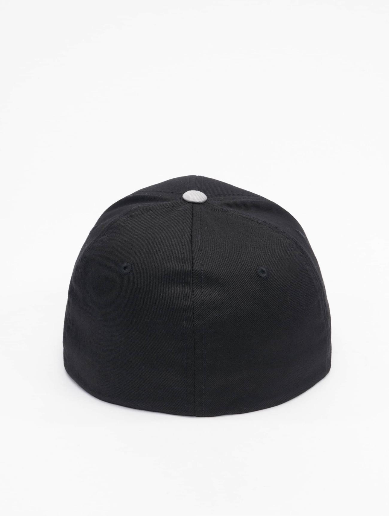 Flexfit  2-Tone Wooly Combed  noir  Casquette Flex Fitted  496039 Homme Casquettes