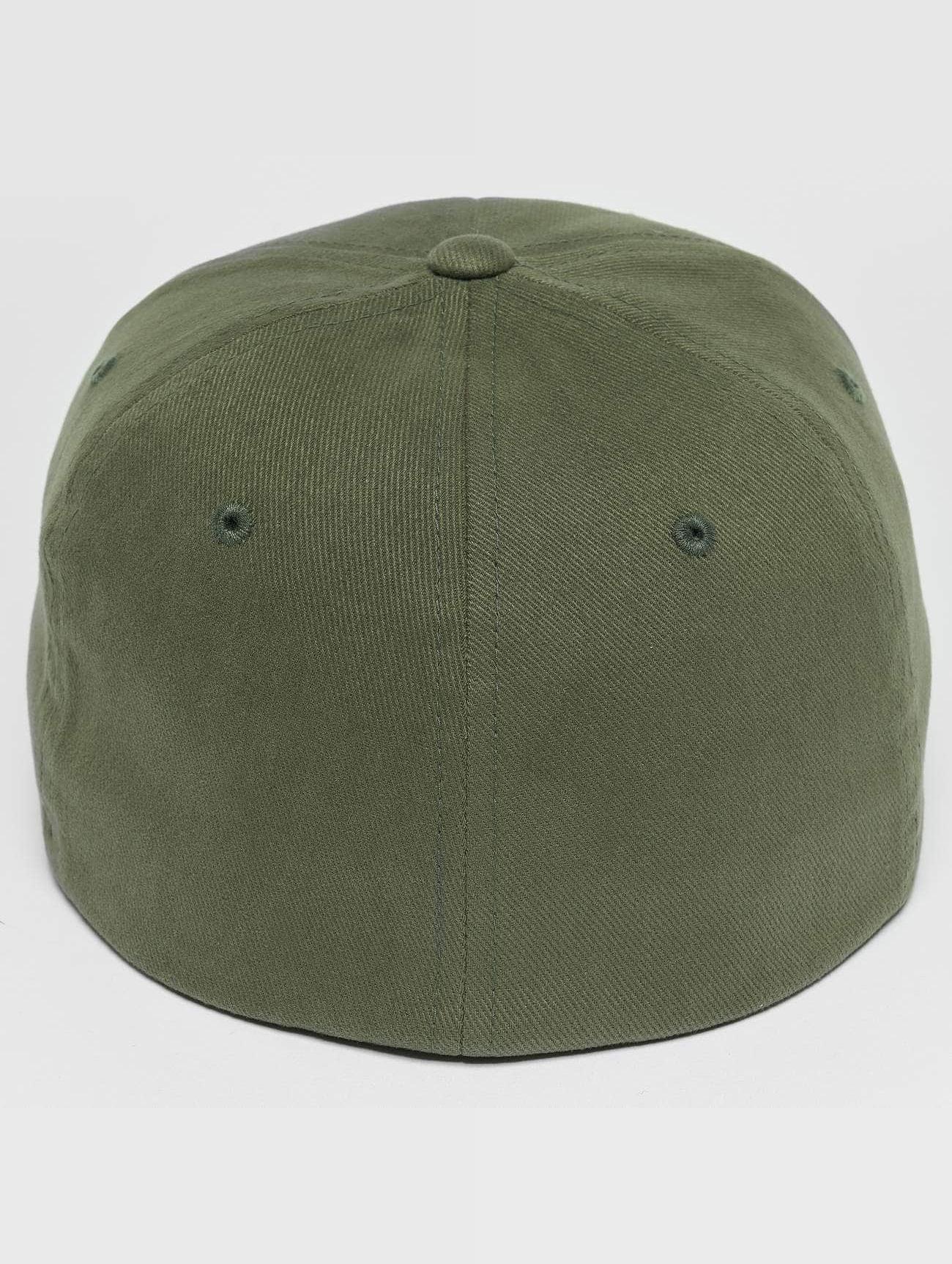 Flexfit  Twill Brushed  vert  Casquette Flex Fitted  477374 Homme Casquettes