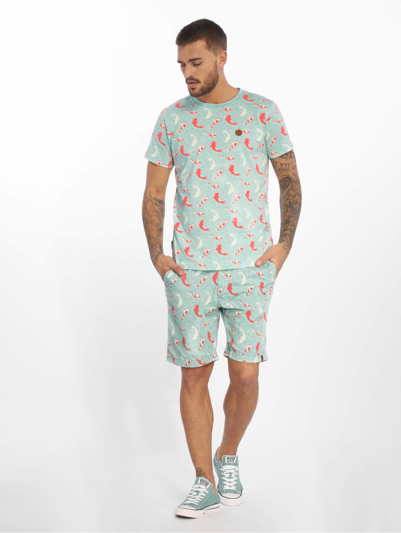Alife & Kickin  Pumpkin B  turquoise Homme Short  600181 Homme Pantalons & Shorts