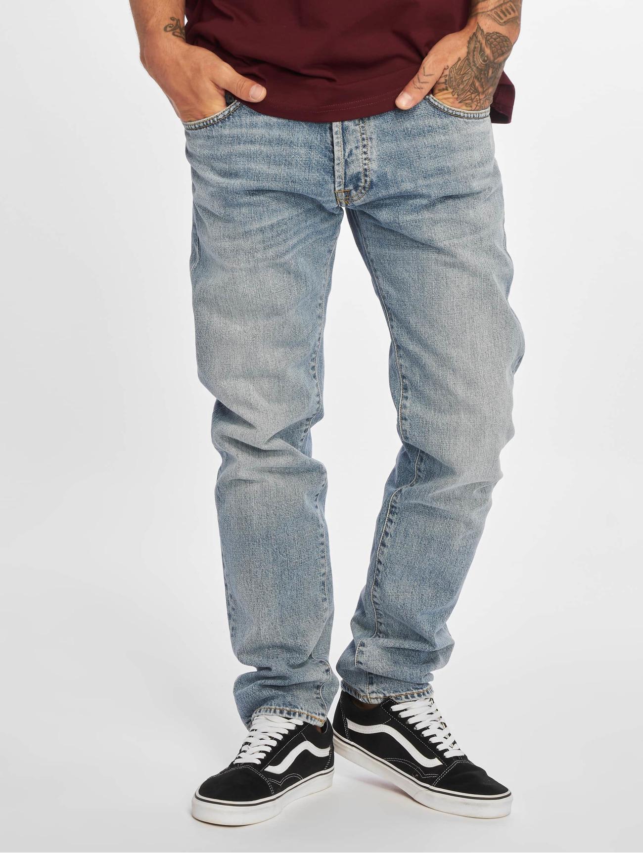 Carhartt WIP Jeans / Straight Fit Jeans Klondike  i blå 695996 Män Jeans