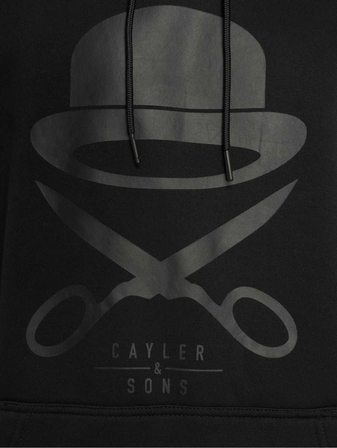 Cayler & Sons | Pa Icon  noir Homme Sweat capuche  621536| Homme Hauts