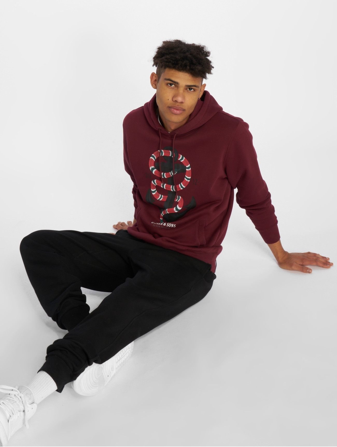 Cayler & Sons | C&s Wl Anchored  rouge Homme Sweat capuche  506856| Homme Hauts