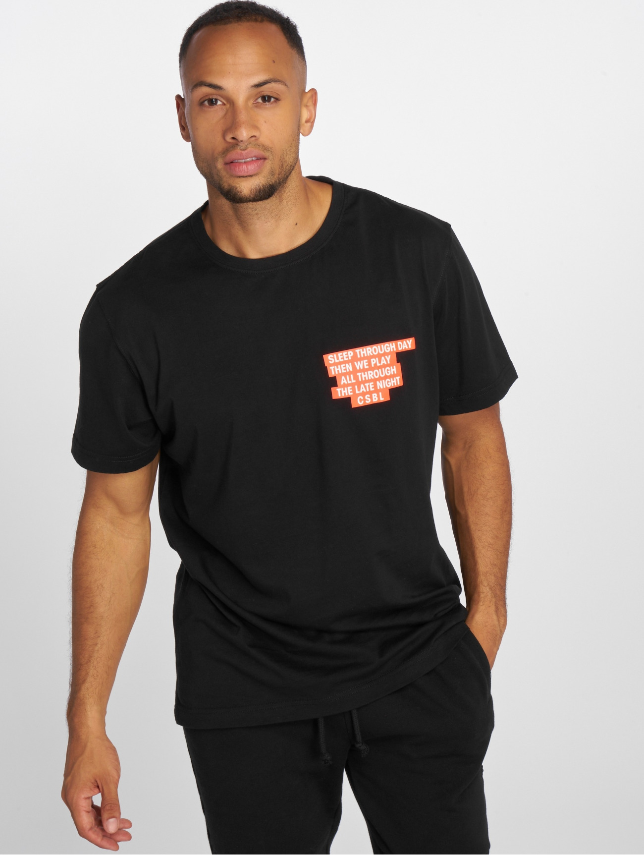 Cayler & Sons | Late Night  noir Homme T-Shirt  506915| Homme Hauts