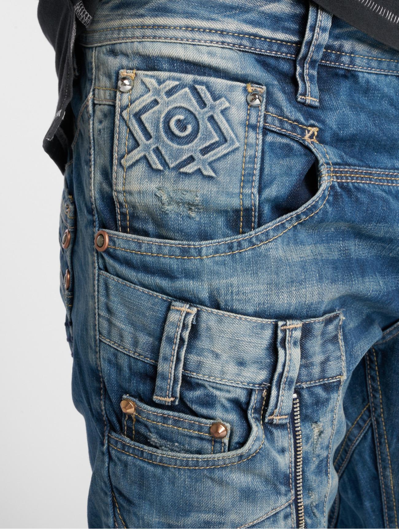 Cipo & Baxx  Alpha  bleu Homme Jean coupe droite  129327 Homme Jeans