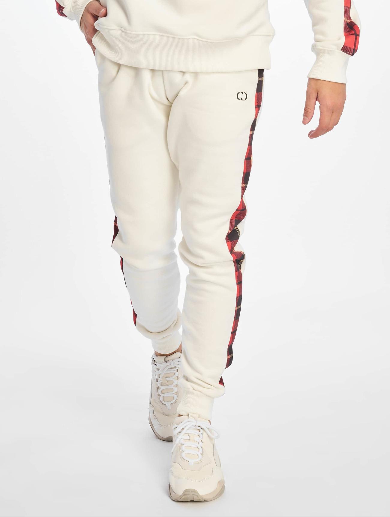 Criminal Damage  Check  blanc Homme Jogging  631415 Homme Pantalons & Shorts