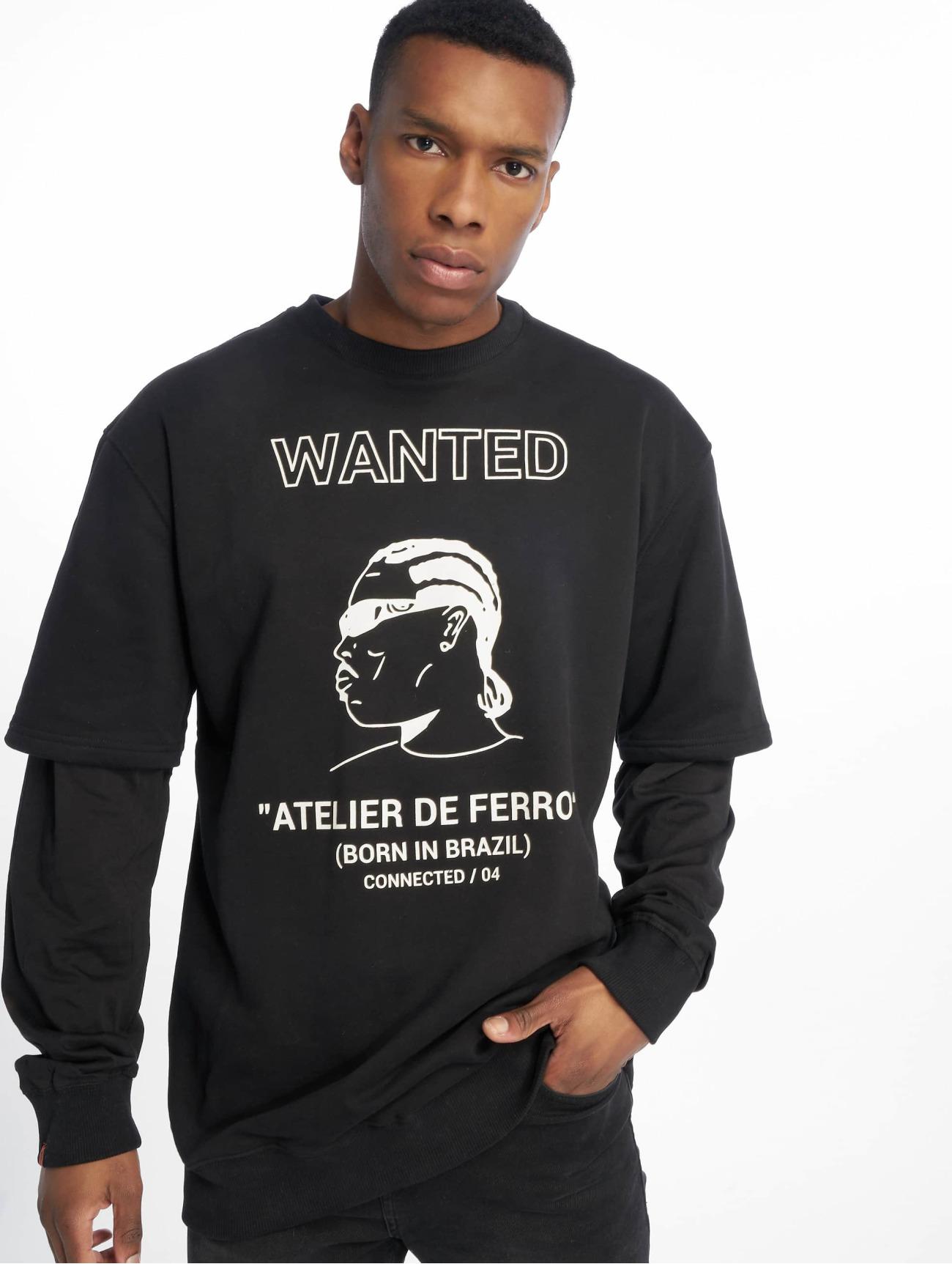 De Ferro   Arm B Wanted  noir Homme Sweat & Pull  604878  Homme Hauts