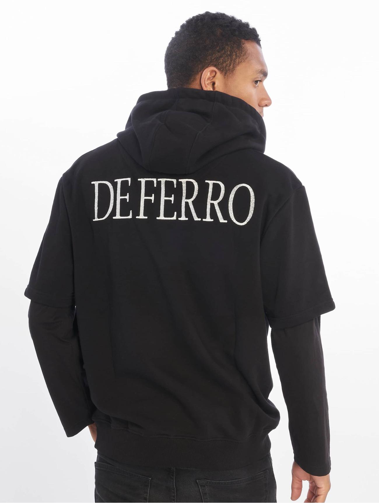 De Ferro | Arm B Hood  noir Homme Sweat capuche  604710| Homme Hauts