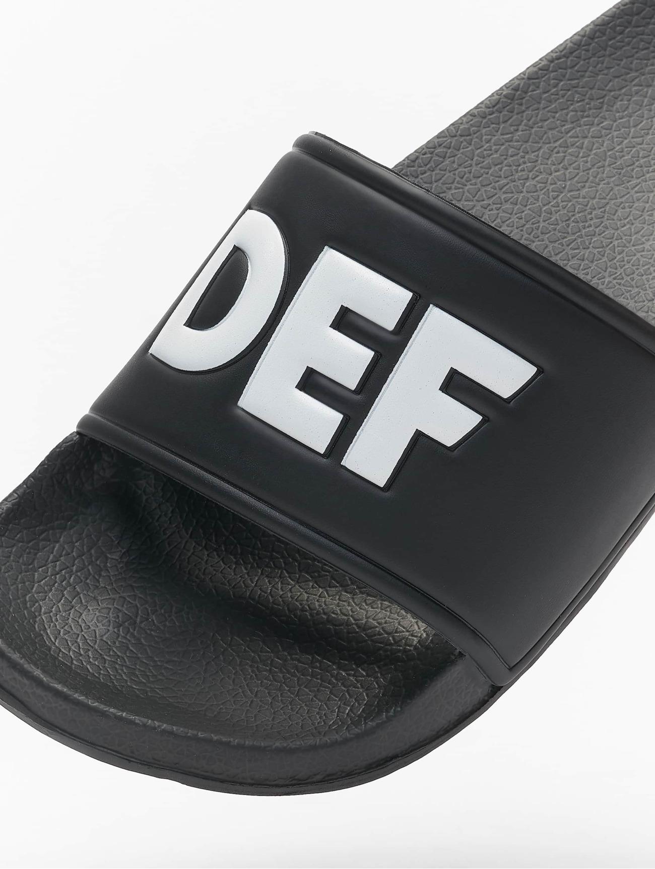 DEF Defiletten noir Claquettes & Sandales 391644 Homme Chaussures