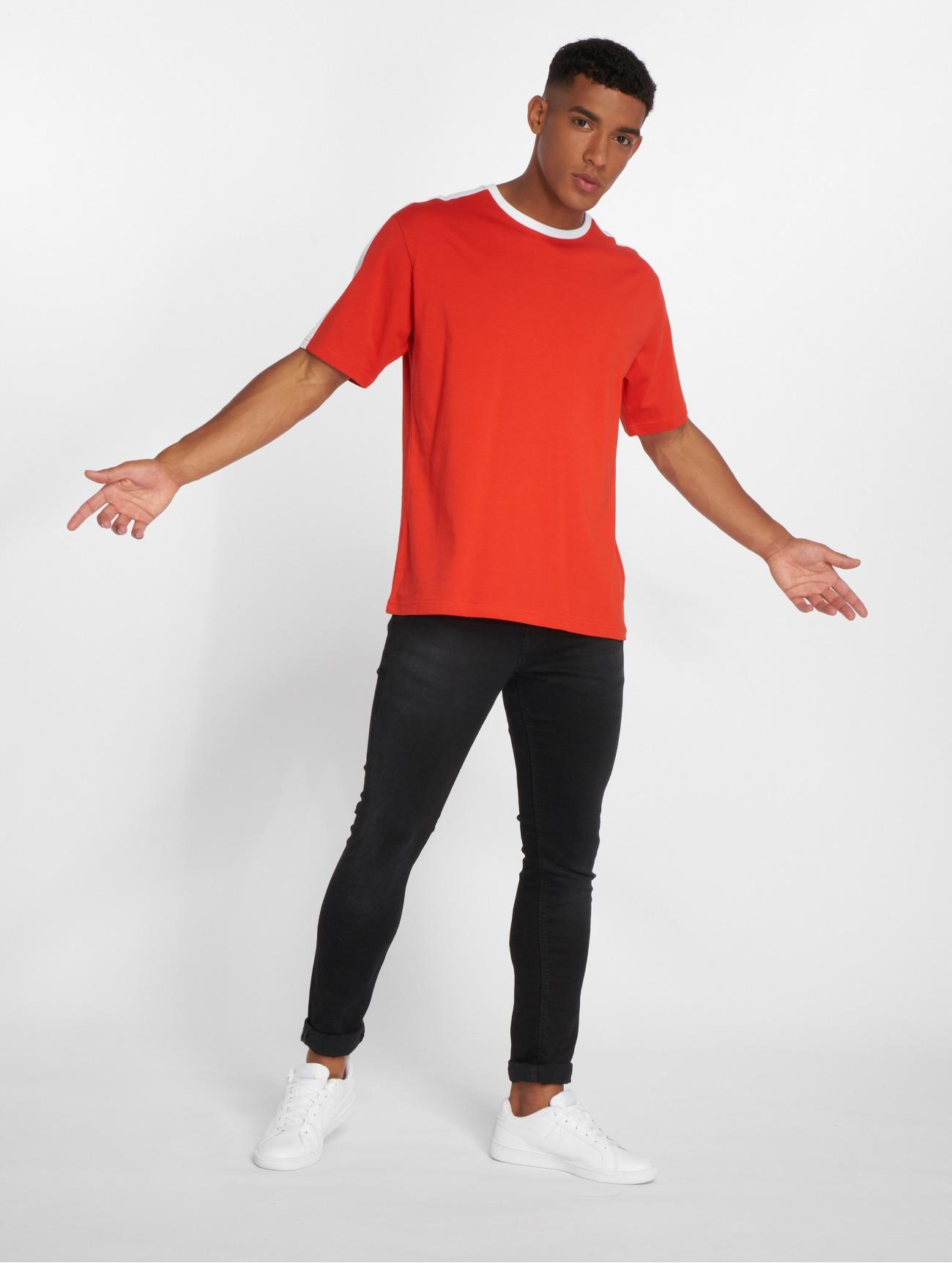 DEF Överdel / T-shirt Jesse i röd 528685 Män Överdelar