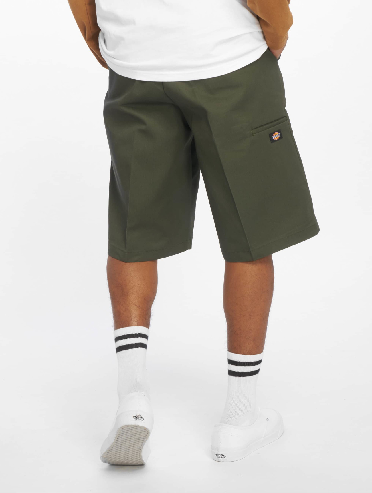 "Dickies  ""13"""" Multi-Use Pocket Work""  olive Homme Short  50127 Homme Pantalons & Shorts"
