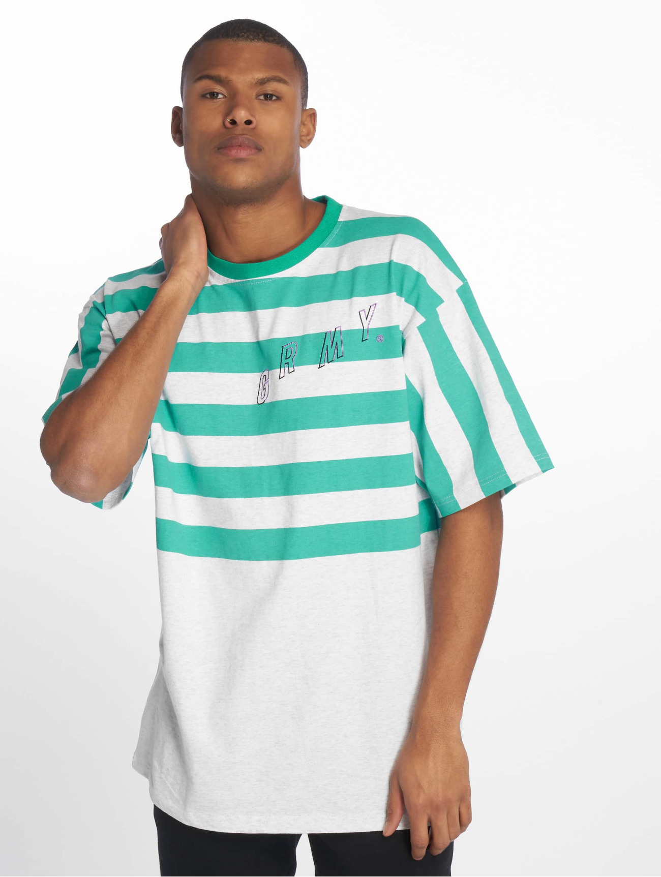 Grimey Wear Överdel / T-shirt Brick City i grön 660645 Män Överdelar