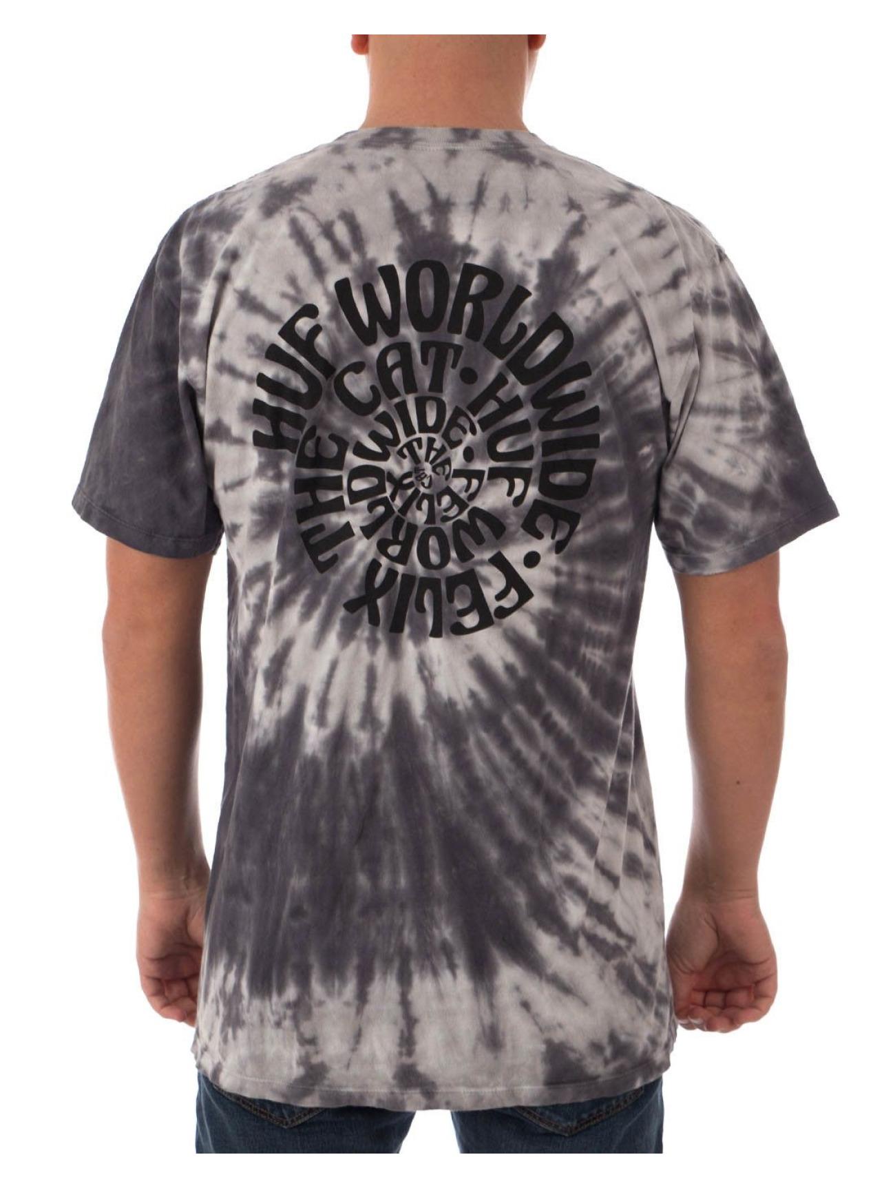 HUF Yläosat | Felix Hypnotize Spiral T-paidat | harmaa 560185