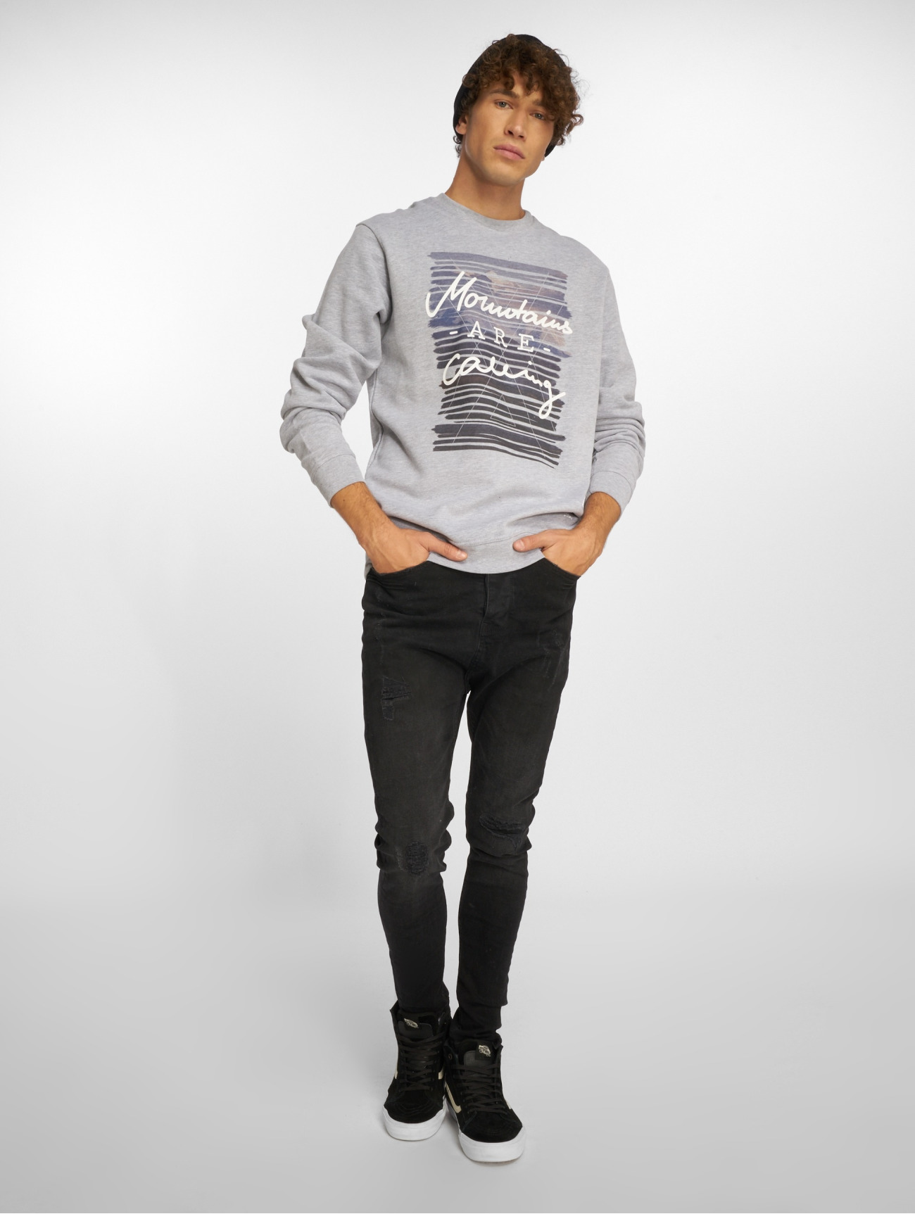 Just Rhyse |  Seaside  gris Homme Sweat & Pull  390419| Homme Hauts