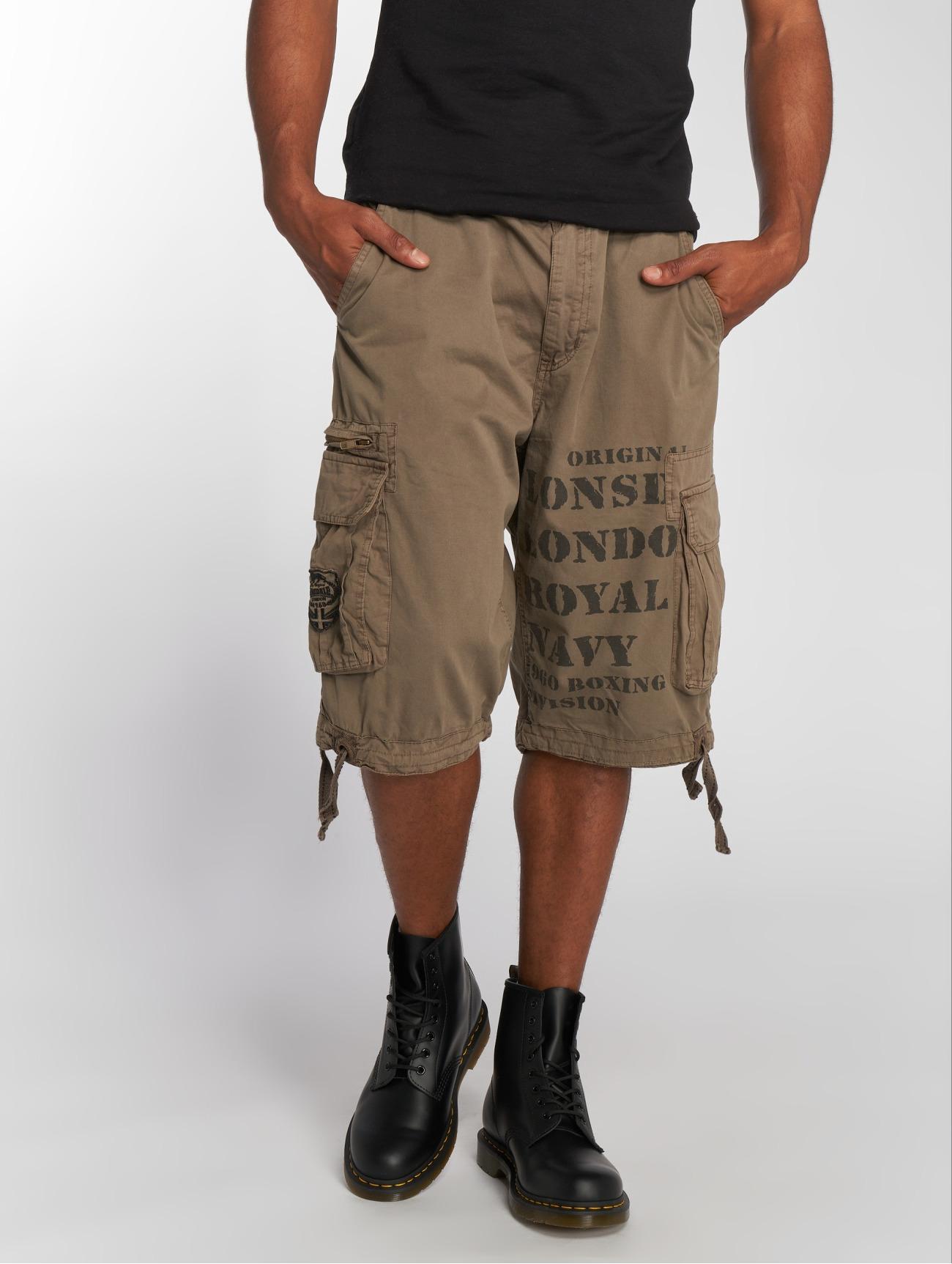 Lonsdale London  London Plain  kaki Homme Short  544844 Homme Pantalons & Shorts