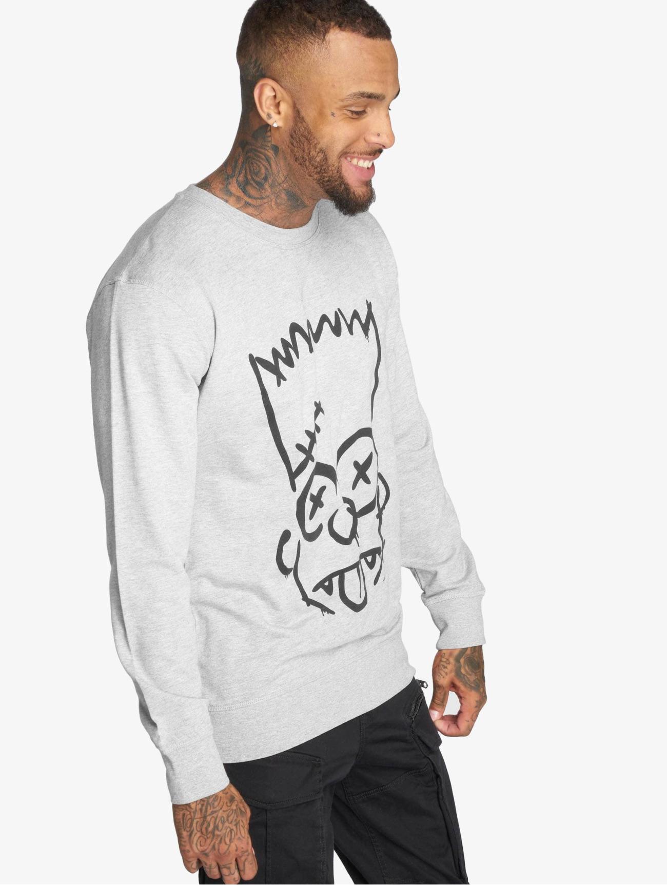 Merchcode | Simpsons Graphity  gris Homme Sweat & Pull  543196| Homme Hauts
