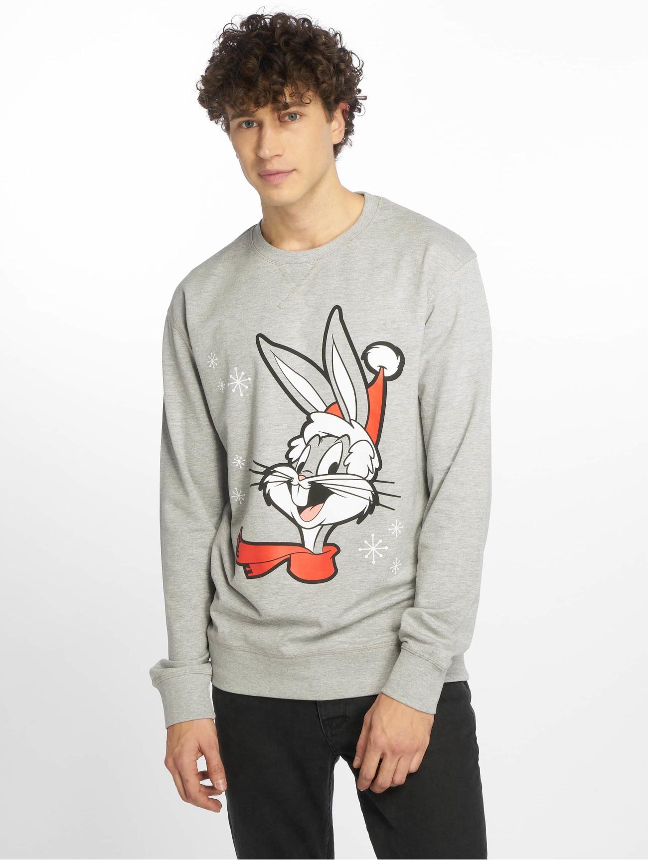 Merchcode | Bugs Bunny Christmas  gris Homme Sweat & Pull  619701| Homme Hauts