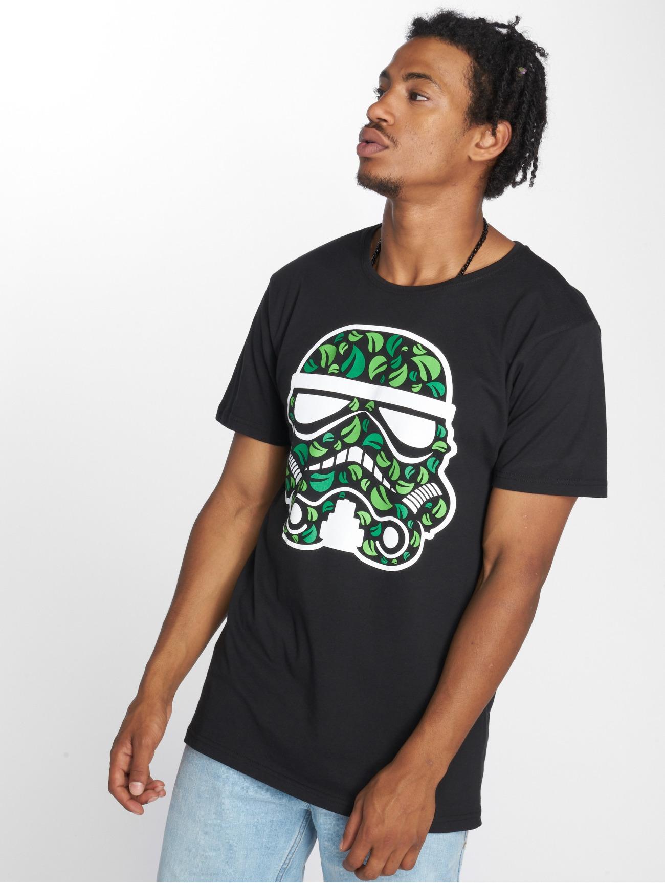 Merchcode | Stormtrooper Leaves  noir Homme T-Shirt  543181| Homme Hauts