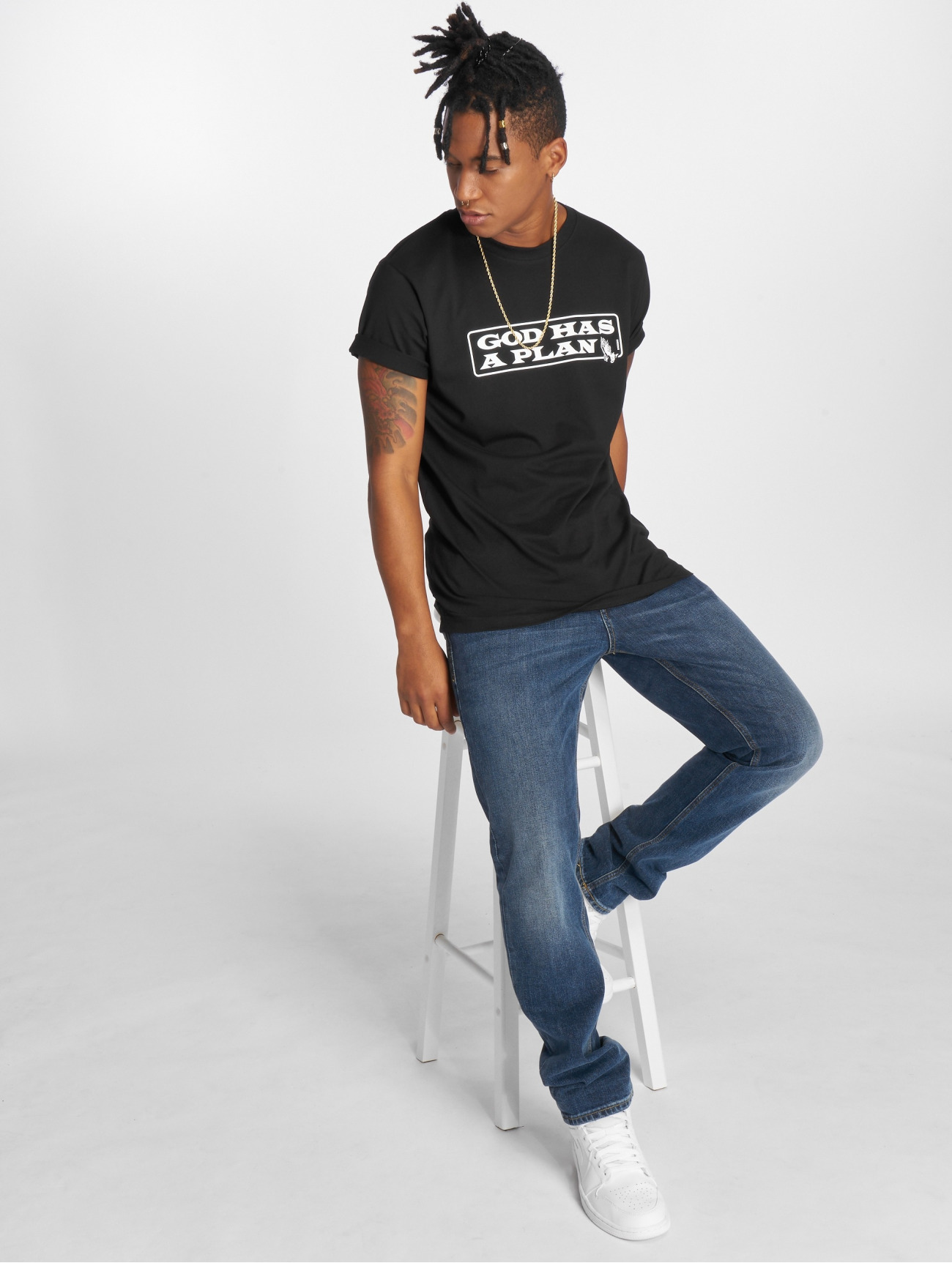Mister Tee | God Has A Plan  noir Homme T-Shirt  574732| Homme Hauts