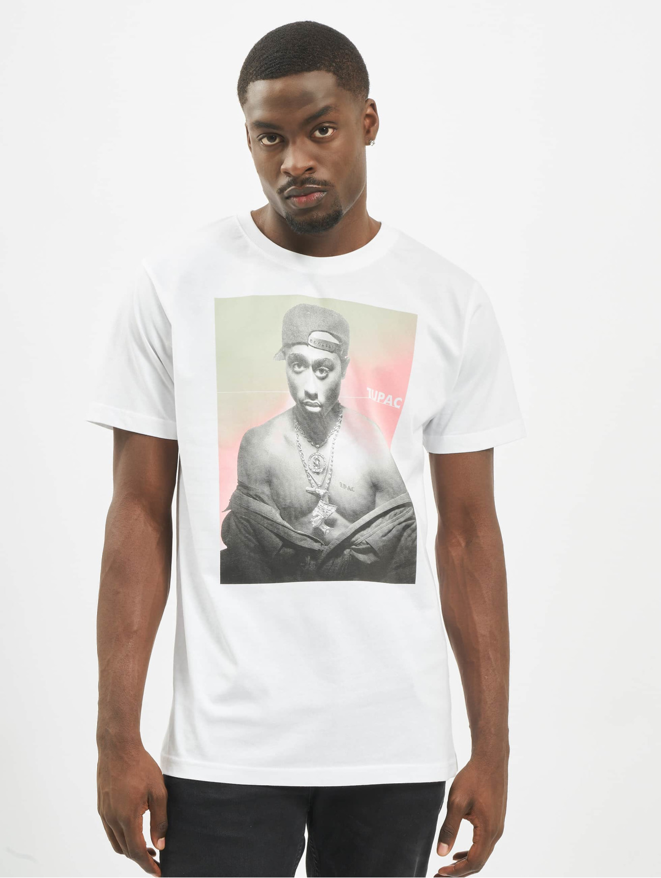 Mister Tee Herren T-Shirt Tupac Afterglow in weiß 708285