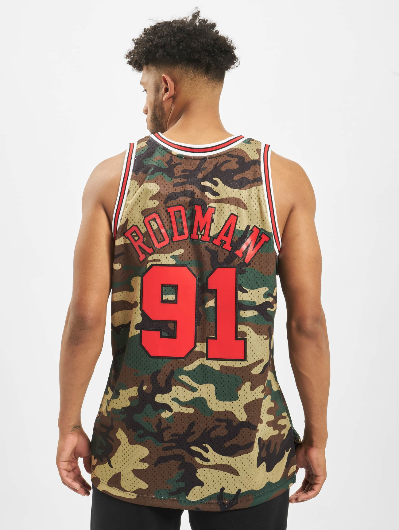 Mitchell & Ness Overwear / T-Shirt NBA Chicago Bulls Swingman D. Rodman in camouflage 709889