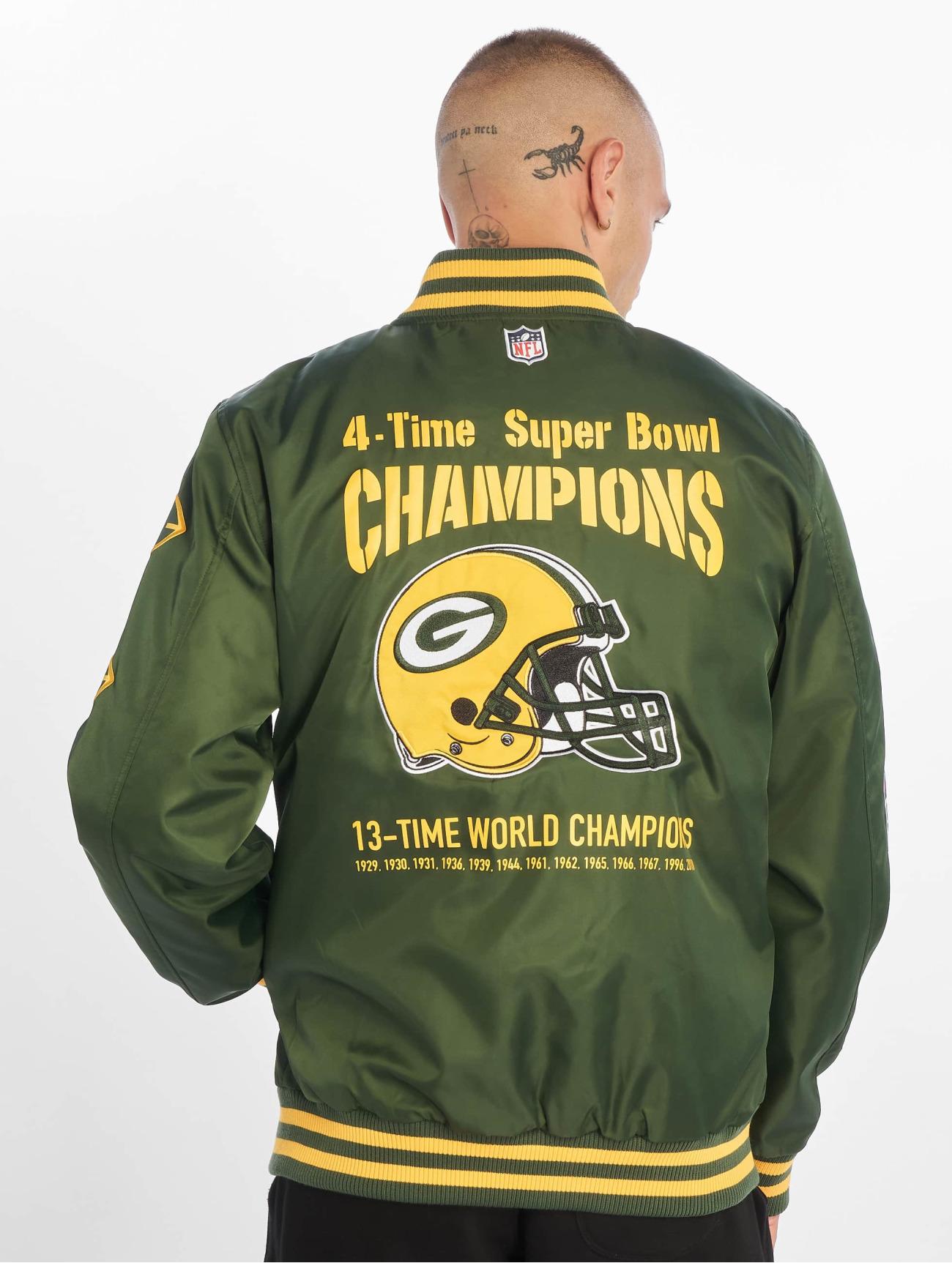 New Era Jackor / Bomberjacka NFL Packers Champion Greenbay Packers i grön 596127 Män Jackor