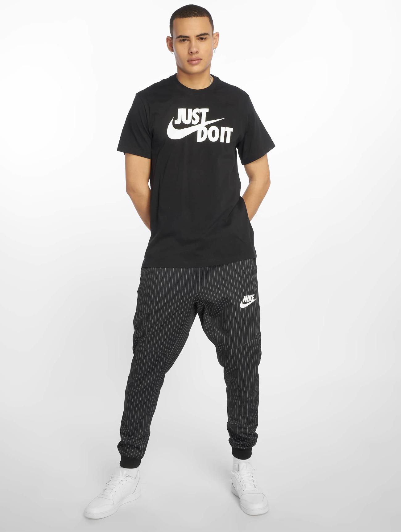 Nike Överdel / T-shirt Just Do It Swoosh i svart 587348 Män Överdelar
